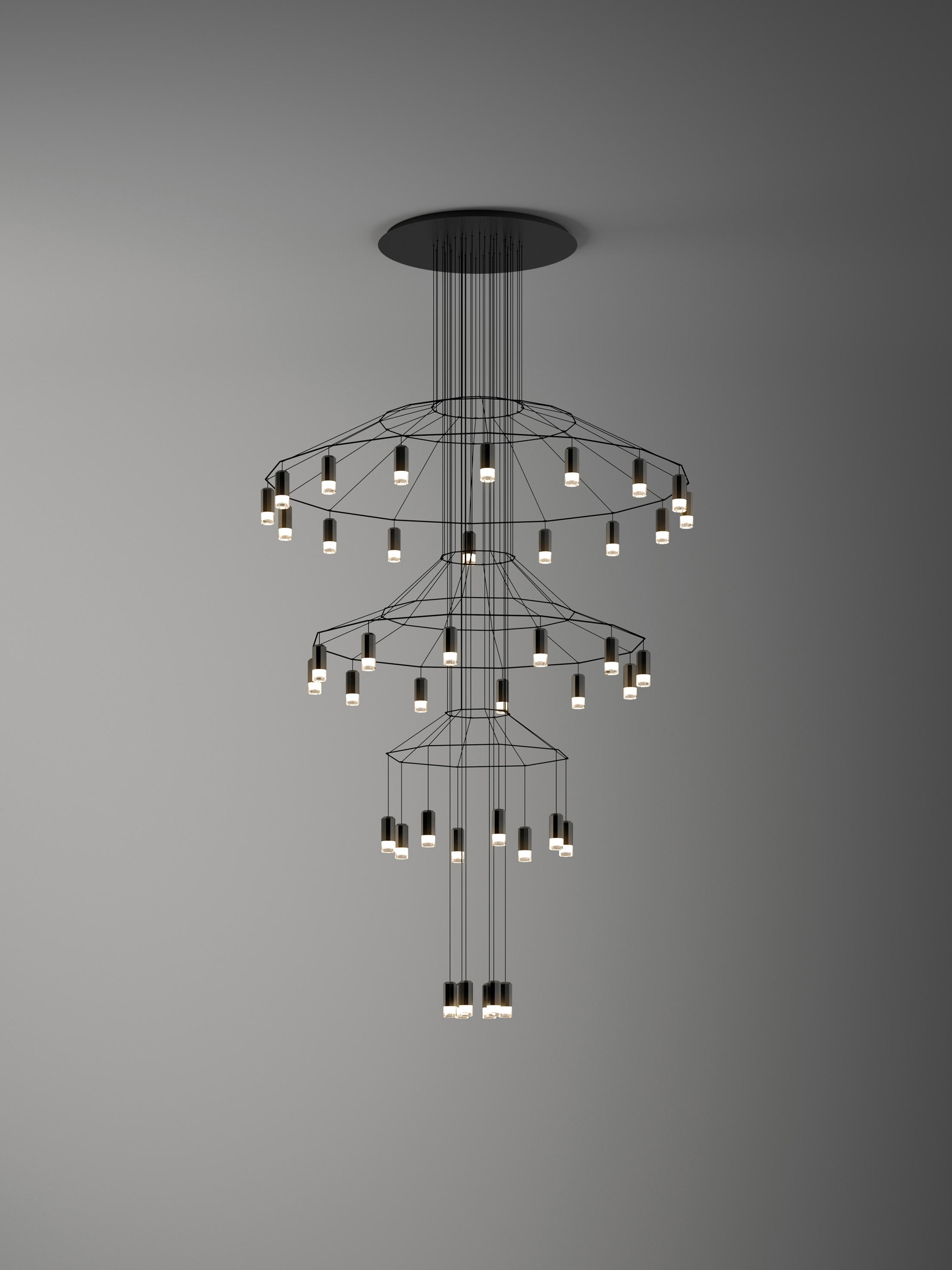 wireflow chandelier general lighting from vibia architonic. Black Bedroom Furniture Sets. Home Design Ideas