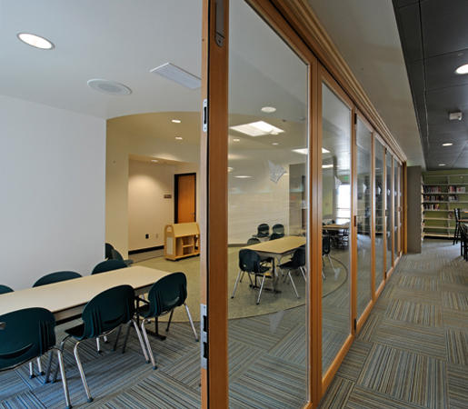 Folding Doors - Wood | Carlsbad Library by LaCantina Doors | Partitions ... & FOLDING DOORS - WOOD | CARLSBAD LIBRARY - Partitions from LaCantina ...