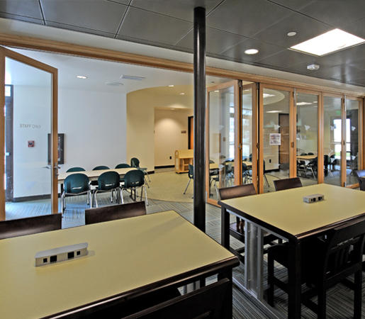 FOLDING DOORS - WOOD | CARLSBAD LIBRARY - Partitions from LaCantina ...