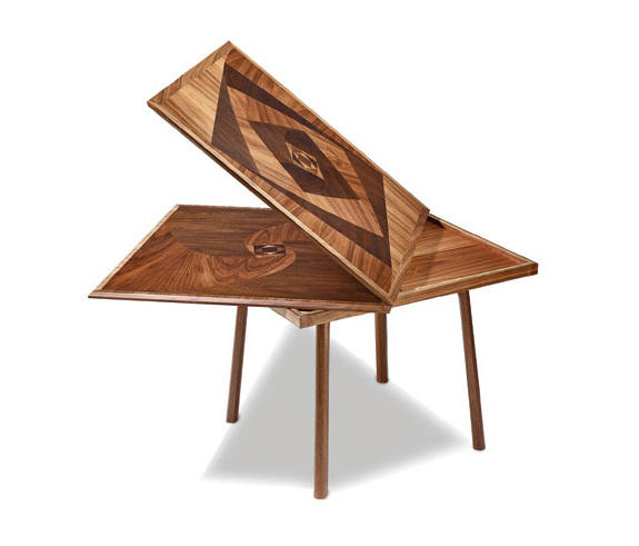 Marquetry Flip Top Table By Cliff Young Dining Tables