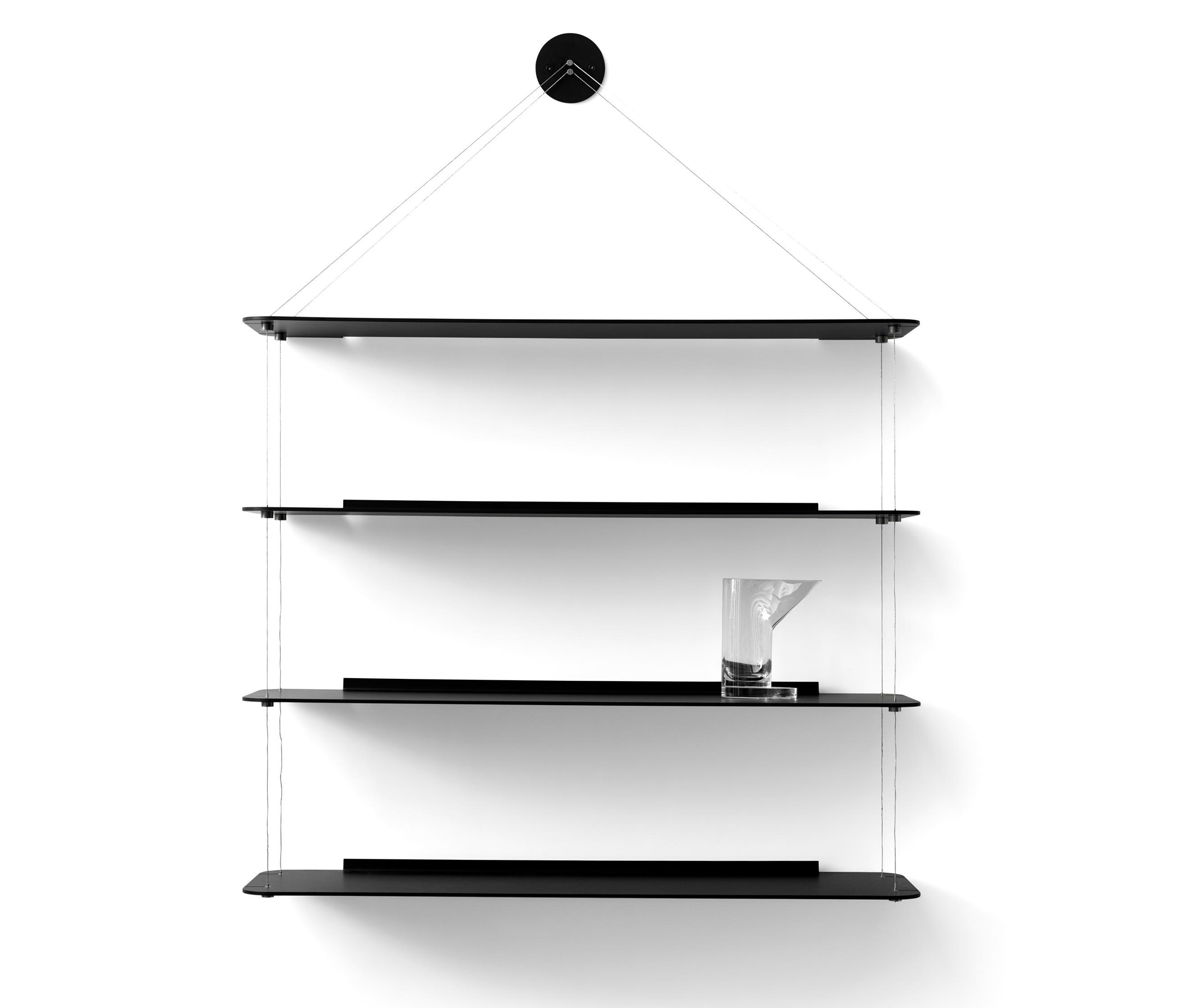 Wire Bookcase Black Oak Architonic
