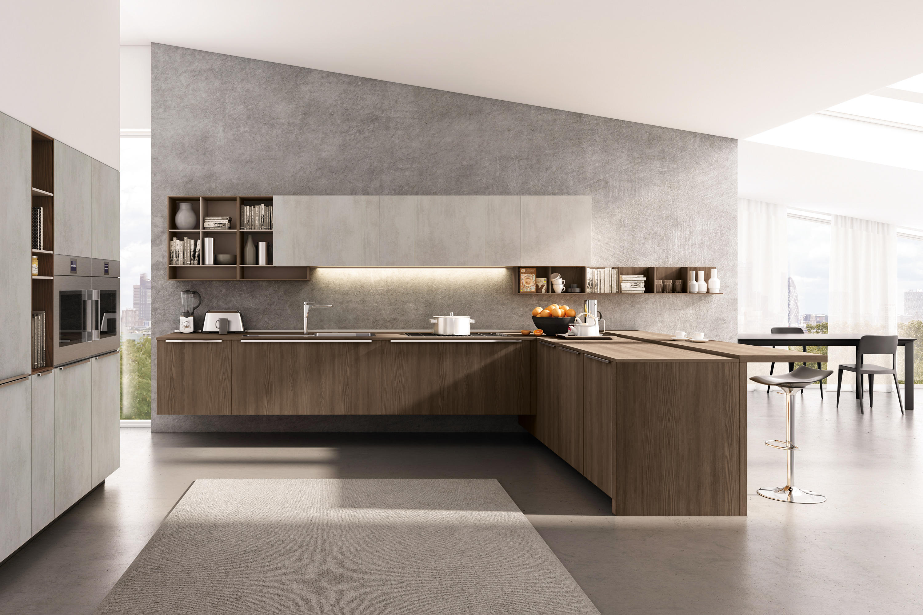 Lain multisystem fitted kitchens from euromobil architonic Modern kitchen design magazine