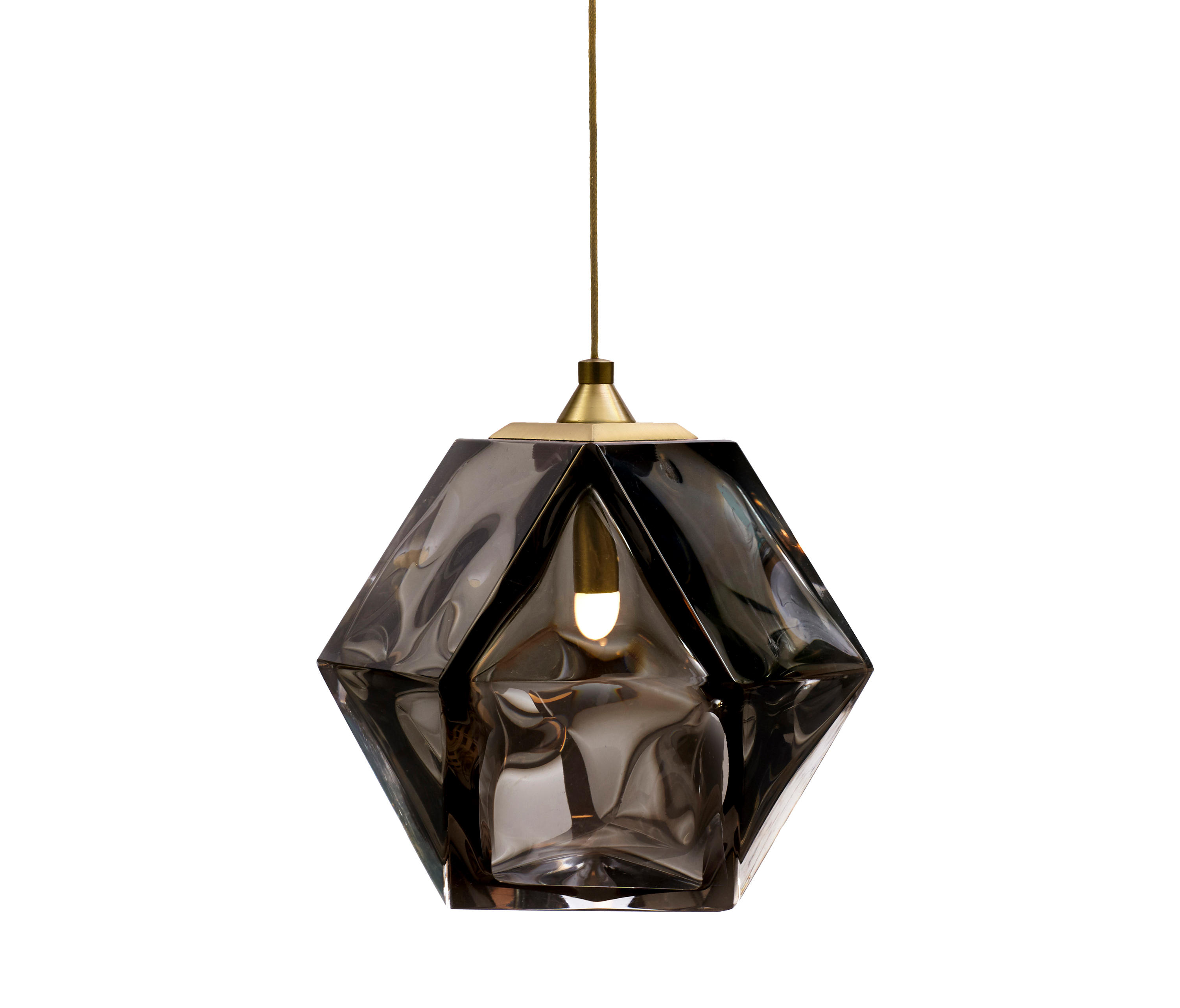 en lighting pendant smoked scott glass brass general welles gabriel b blown from product by double
