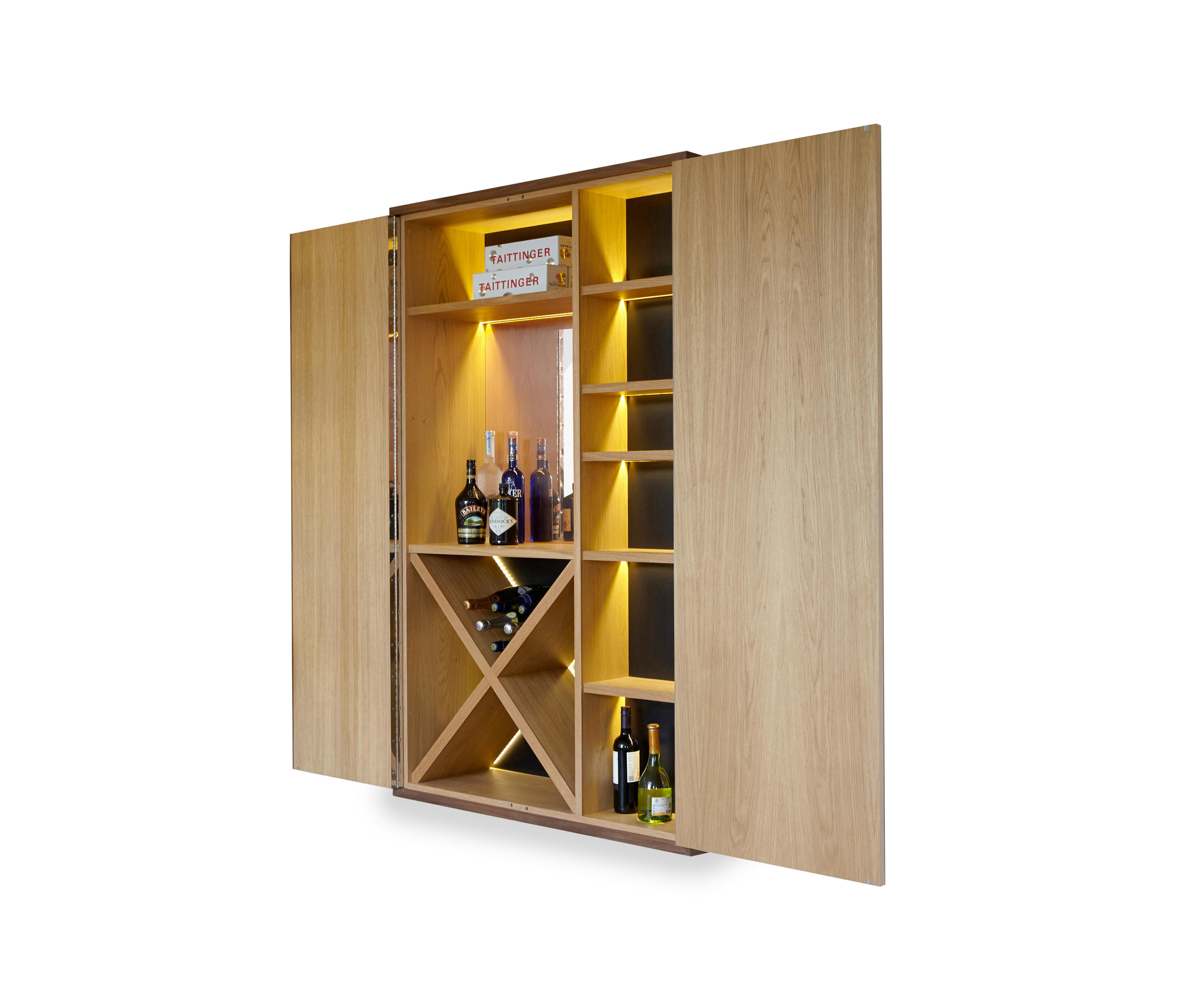 Brompton drink cabinet built in cupboards from ivar for Built in drinks cabinet