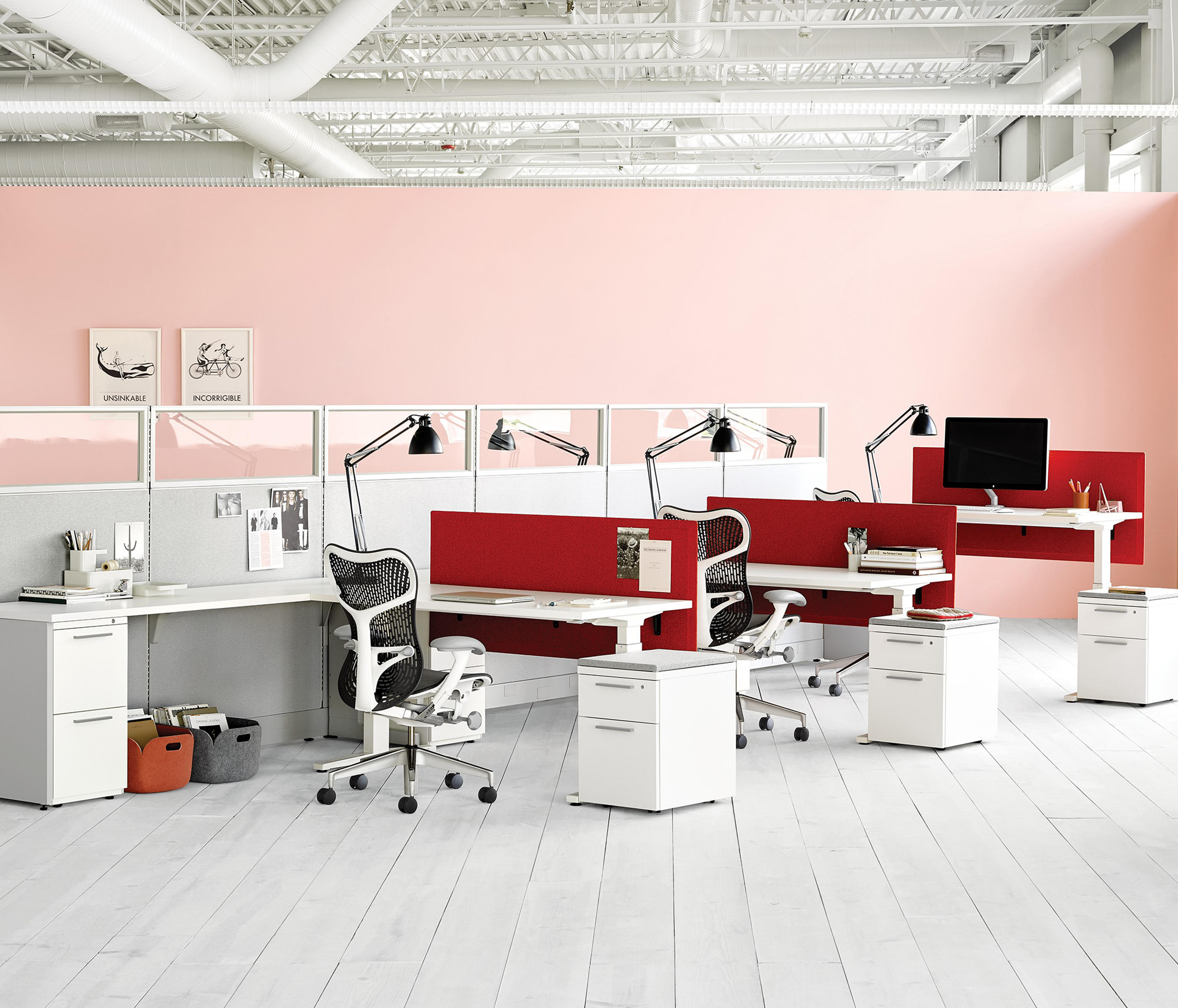 action office desking systems from herman miller architonic. Black Bedroom Furniture Sets. Home Design Ideas