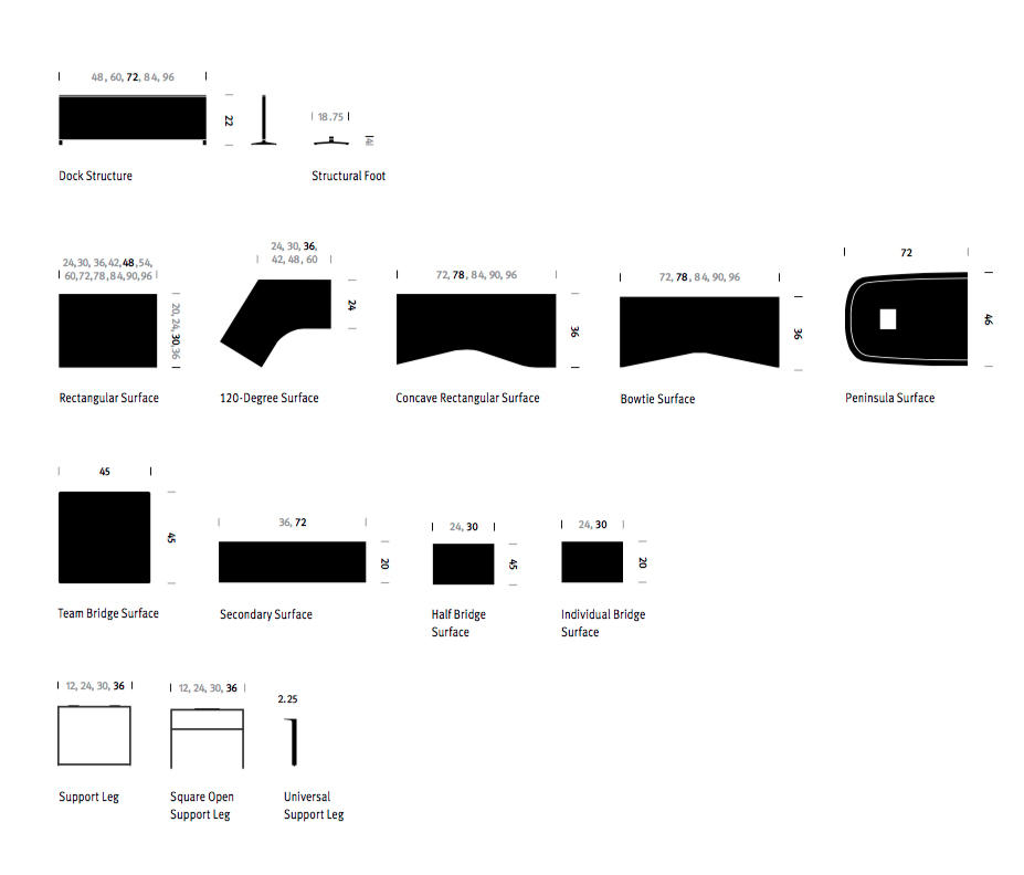 canvas office landscape von herman miller tischsysteme - Herman Miller Tischsysteme