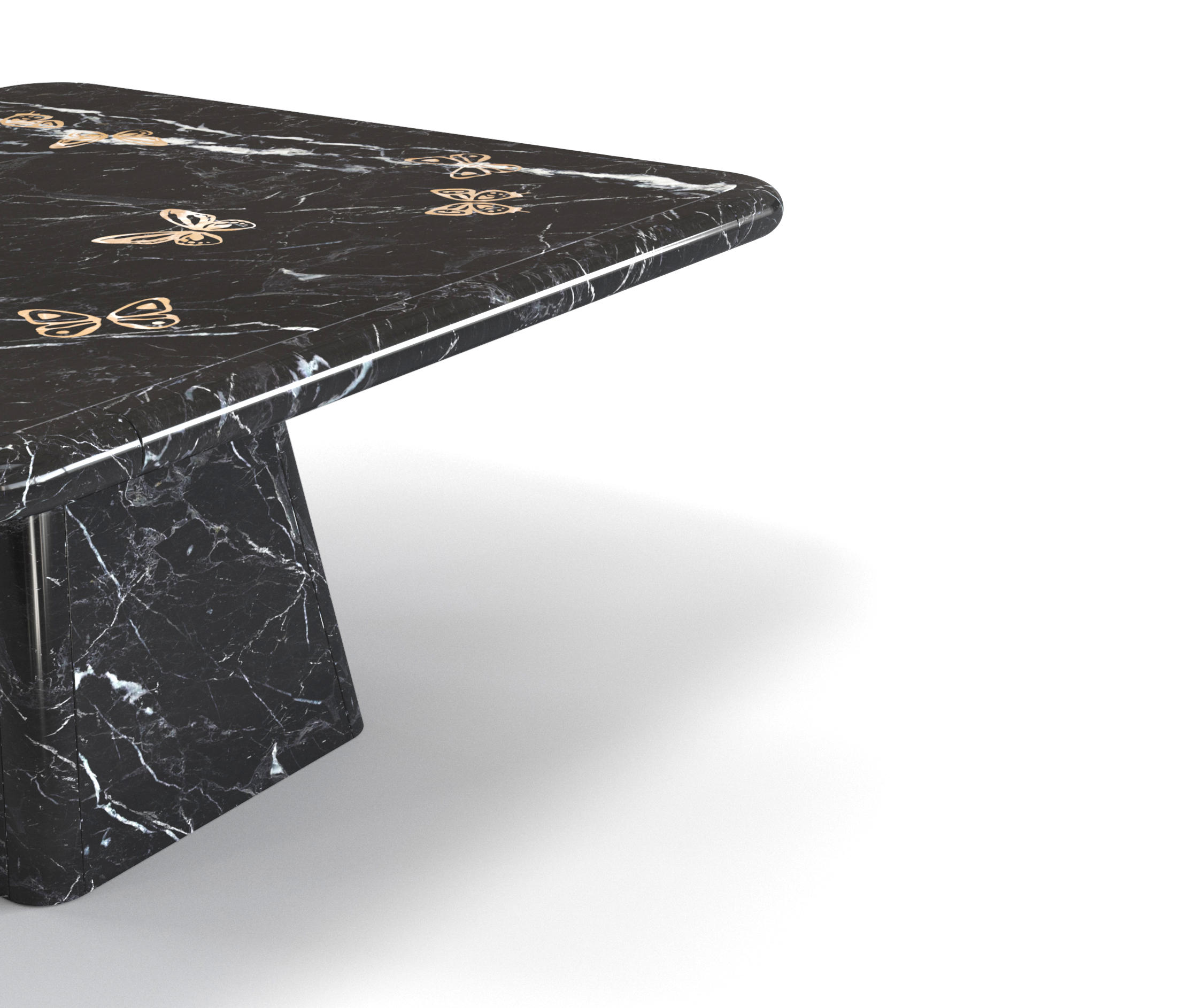 Miroir des papillons dining table dining tables from for Miroir noir download