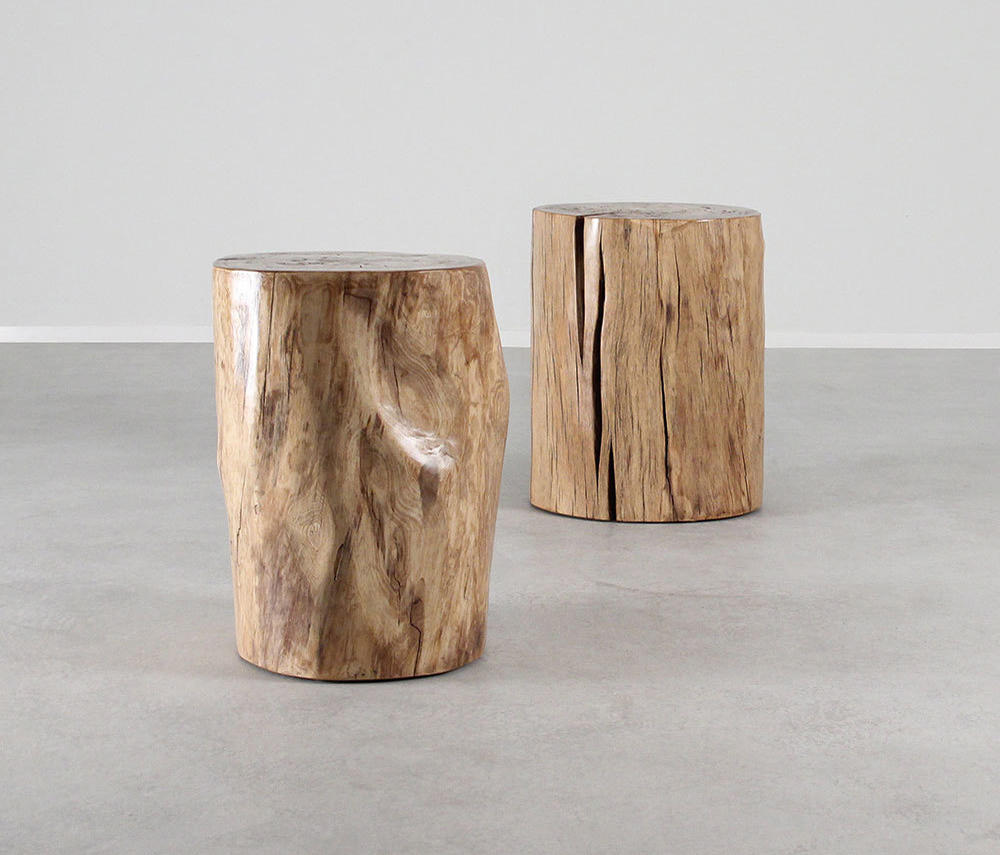 Pale Rider Cottonwood Stump Table By Pfeifer Studio | Side Tables