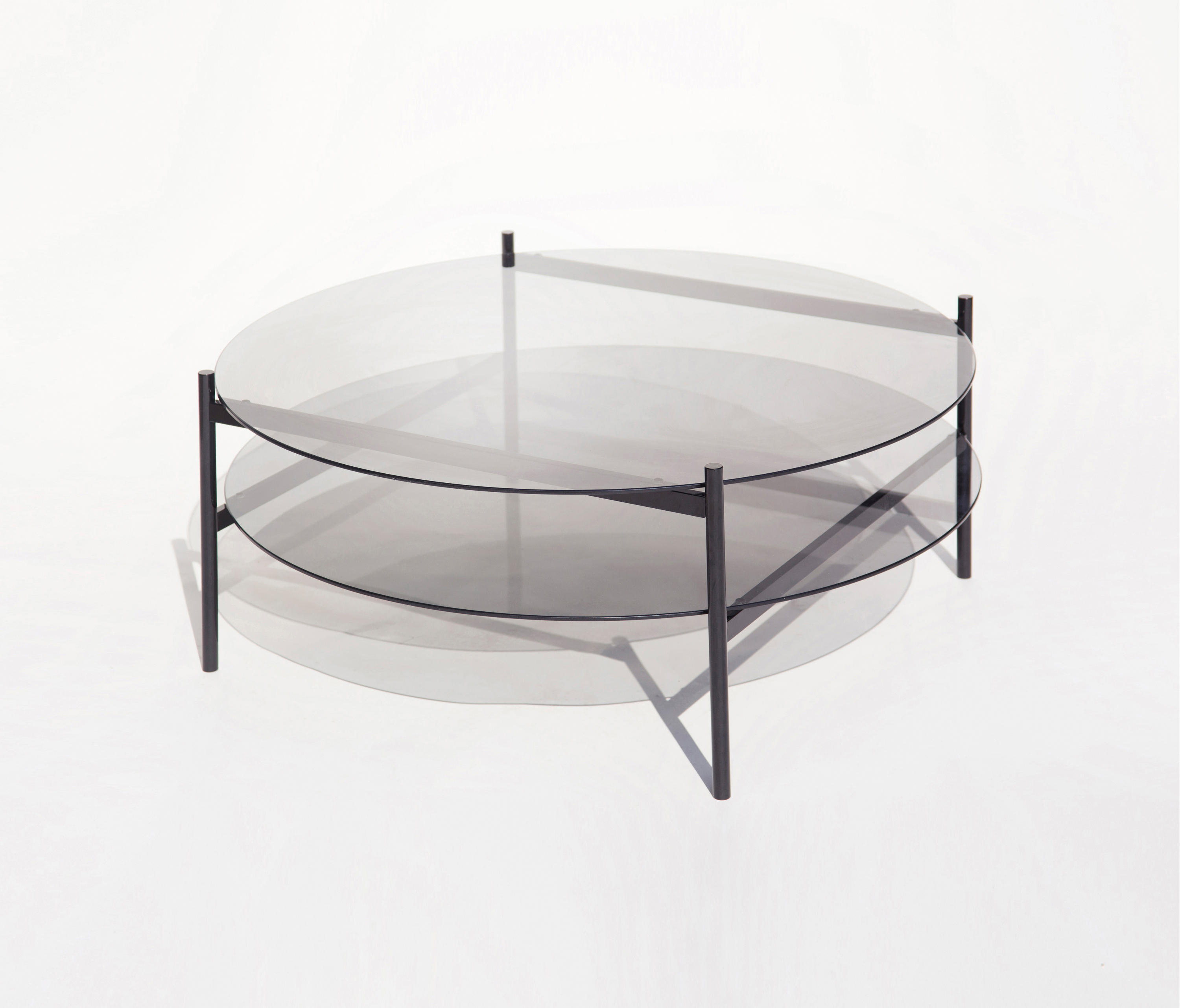 Duotone Circular Coffee Table | Black / Smoked By Yield | Coffee Tables ...
