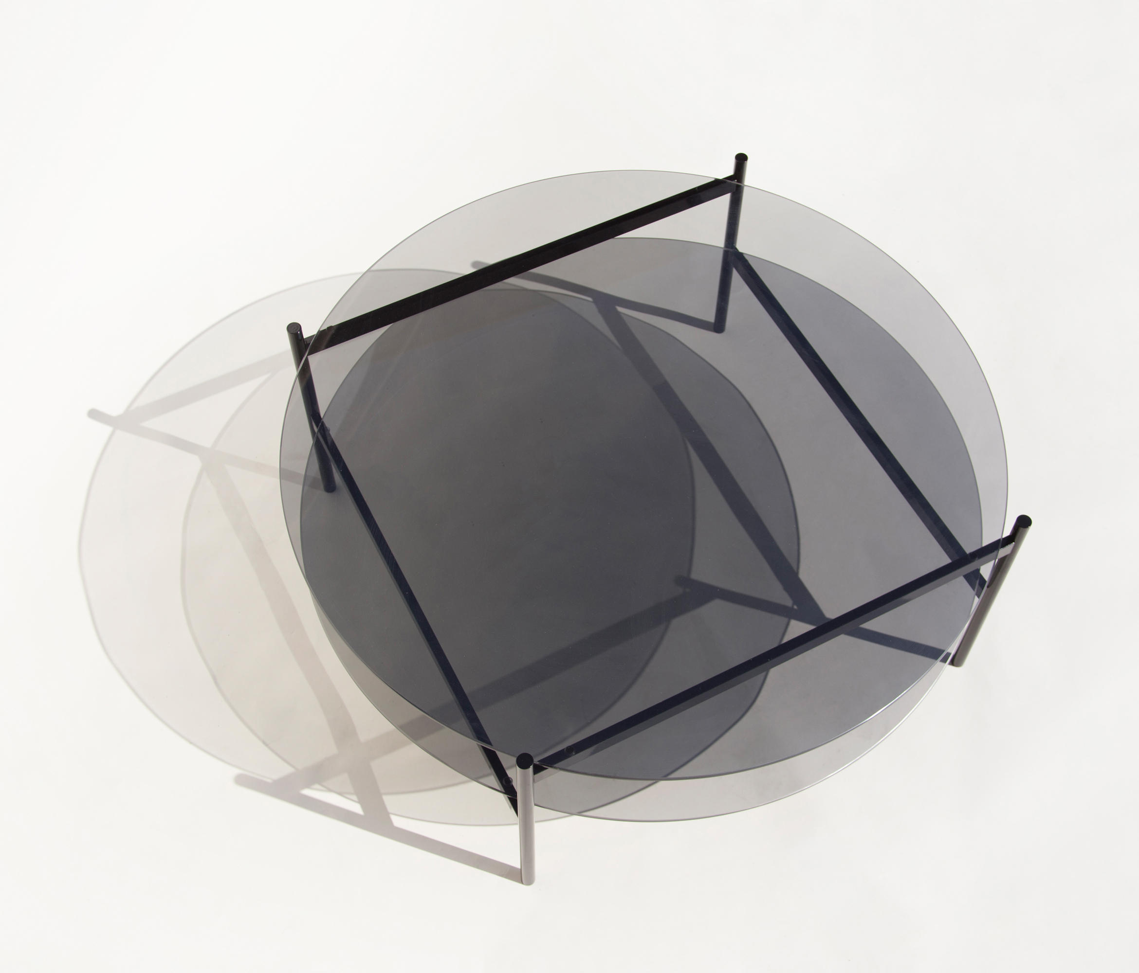 ... Duotone Circular Coffee Table | Black / Smoked By Yield | Coffee Tables  ...