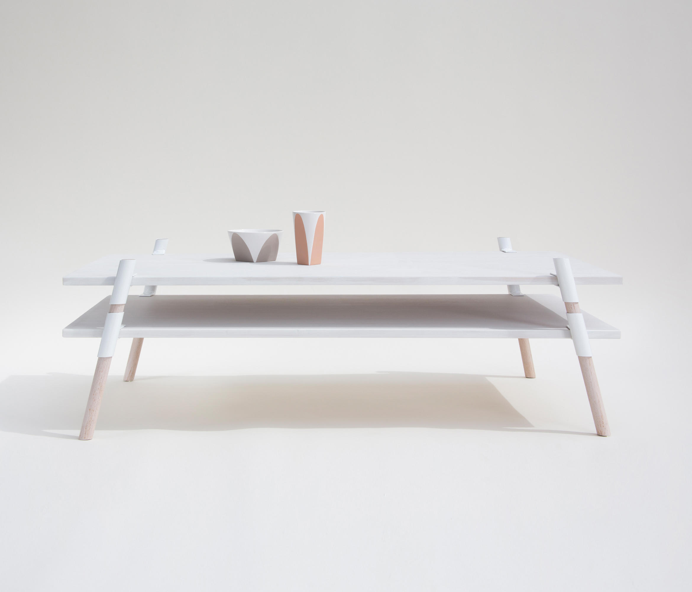Italic 2 Tier Coffee Table Bleached Alder Lounge Tables From Yield Architonic