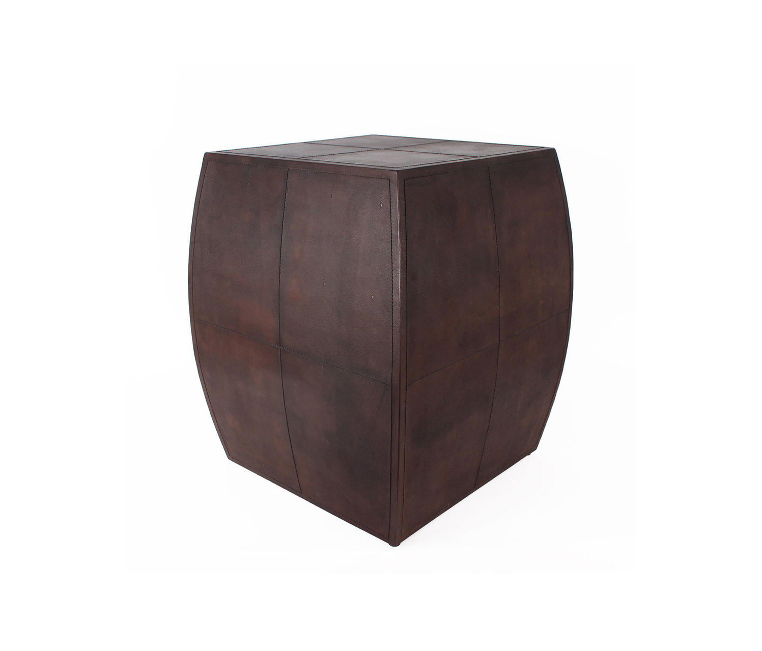 ... Regency Leather End Table By Pfeifer Studio | Side Tables