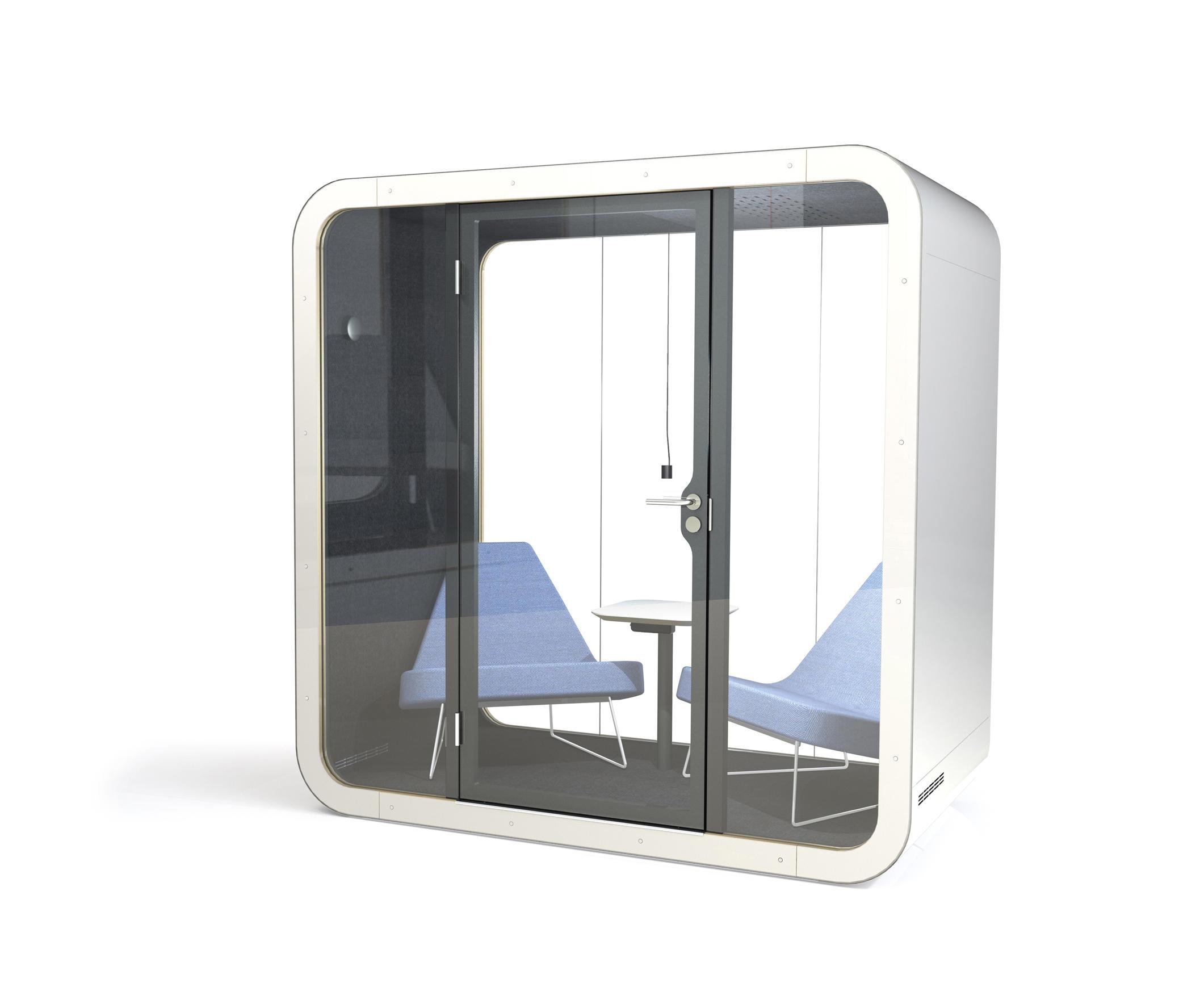 Framery Q | black/white with white door and frame de Framery | Sistemas de