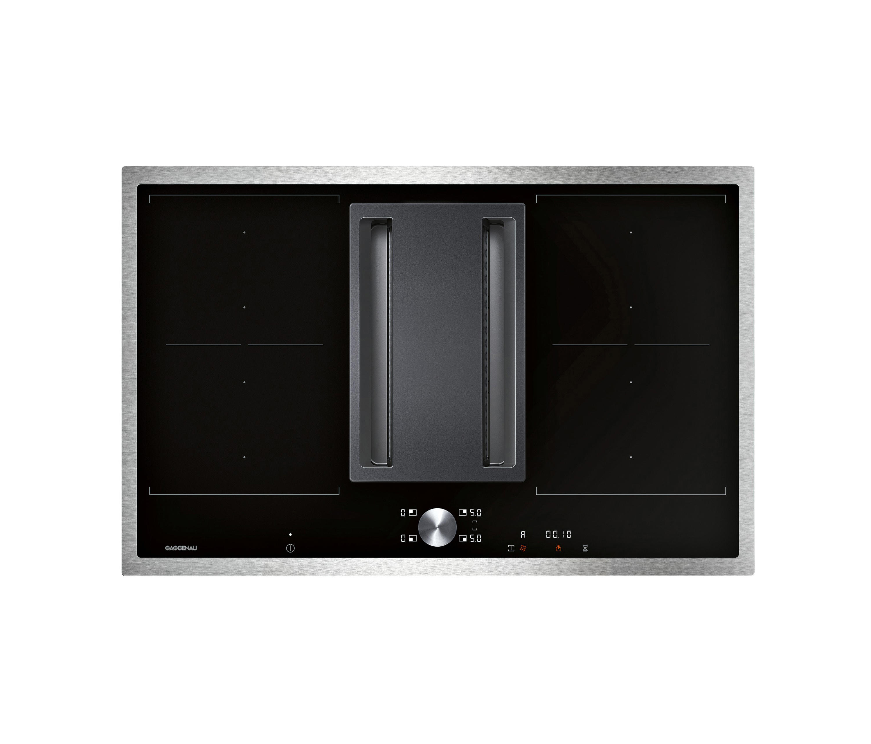 flex induction cooktop with integrated ventilation system