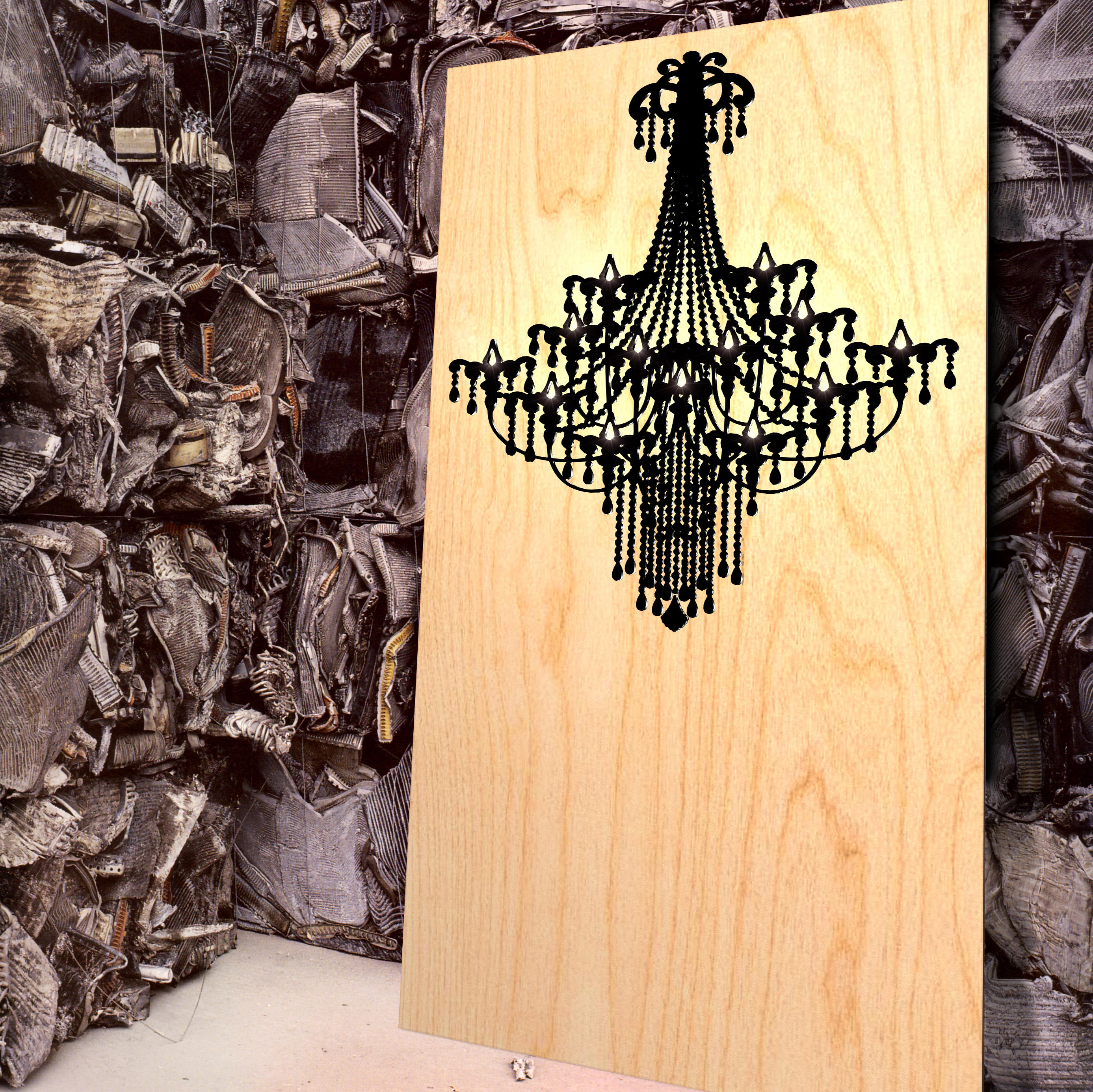 INLAY CHANDELIER - Wood panels from Yellow Goat Design | Architonic