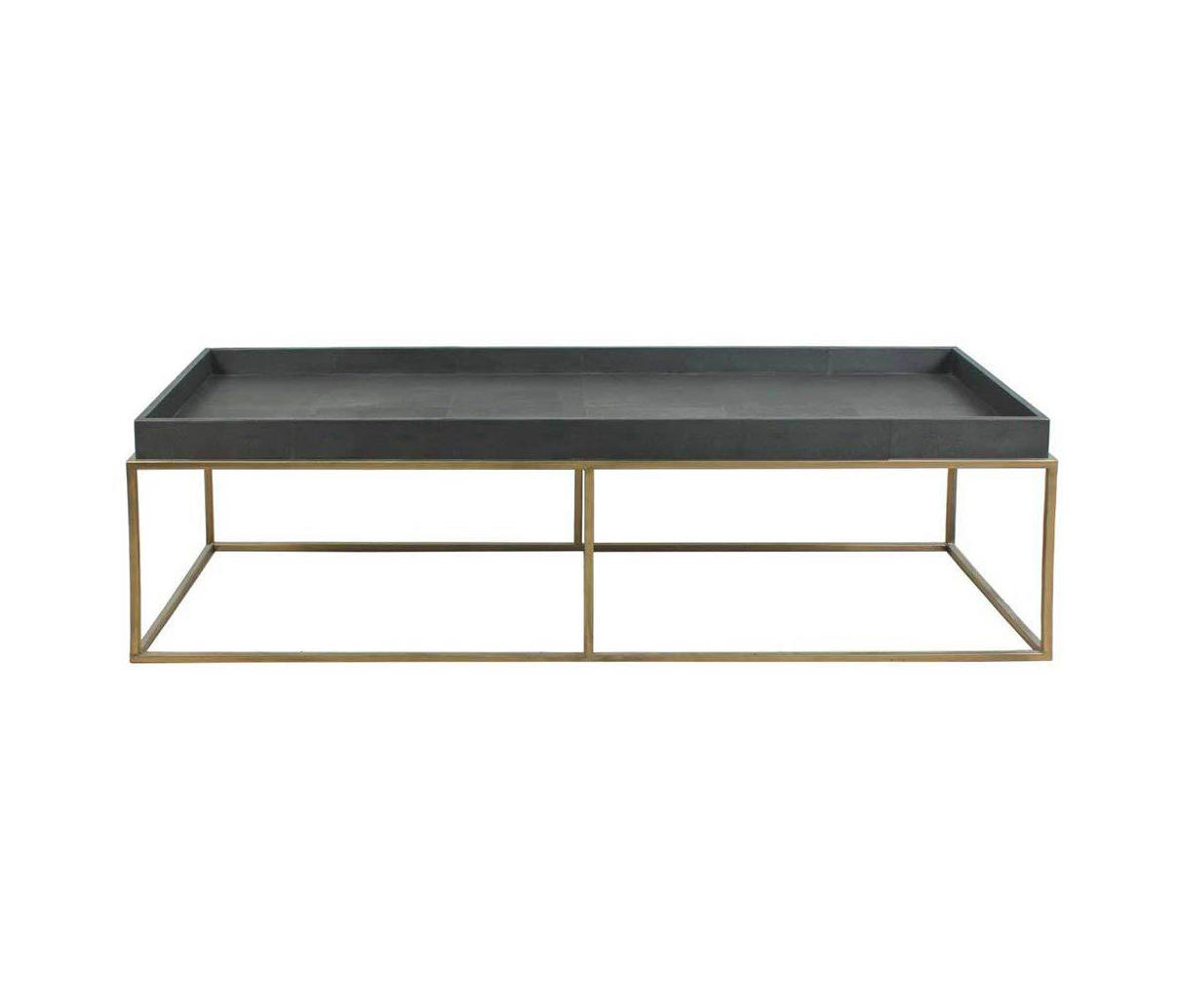... Brentwood Leather And Brass Cocktail Table By Pfeifer Studio   Lounge  Tables ...