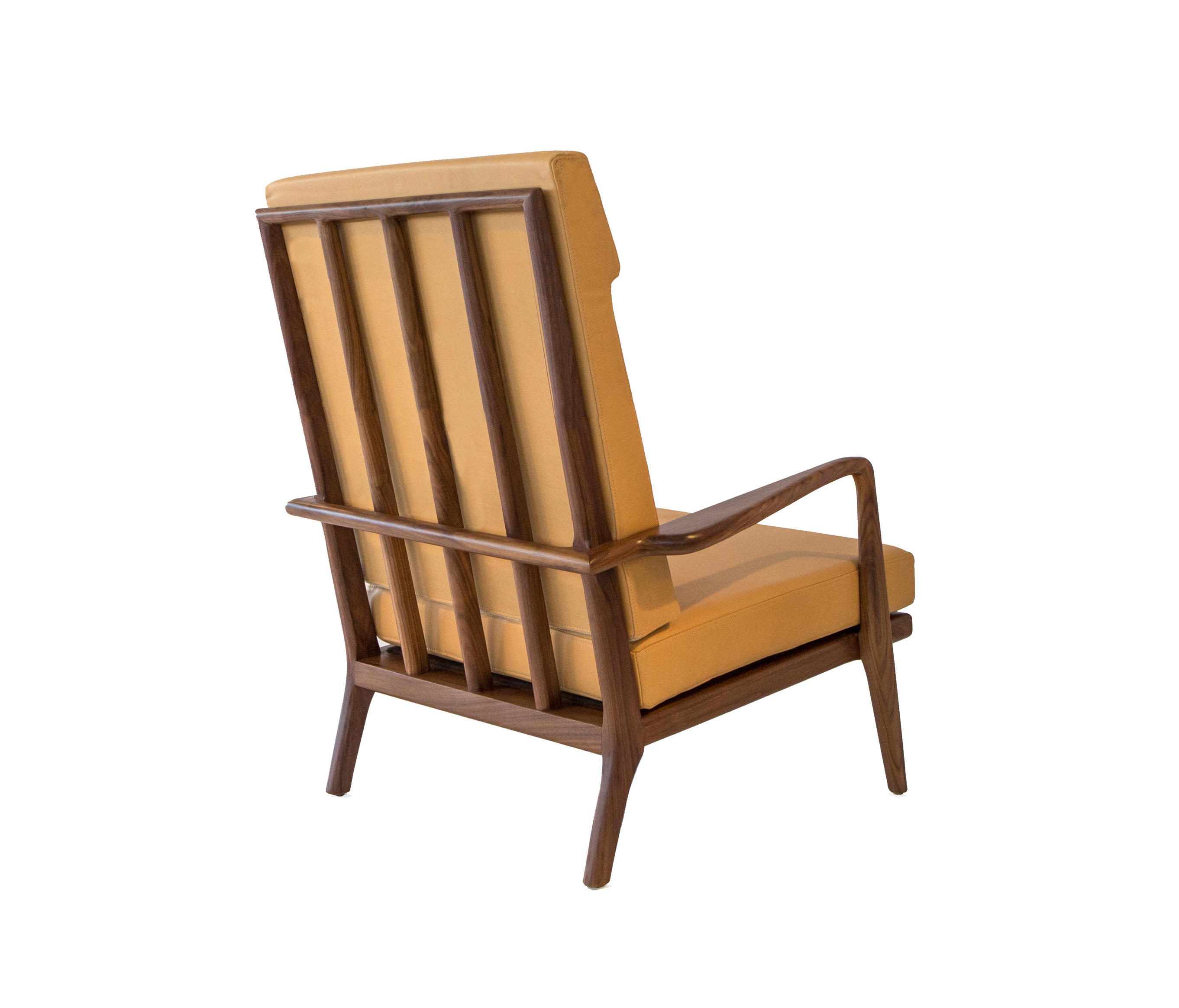 RAIL BACK HIGH-BACK ARM CHAIR