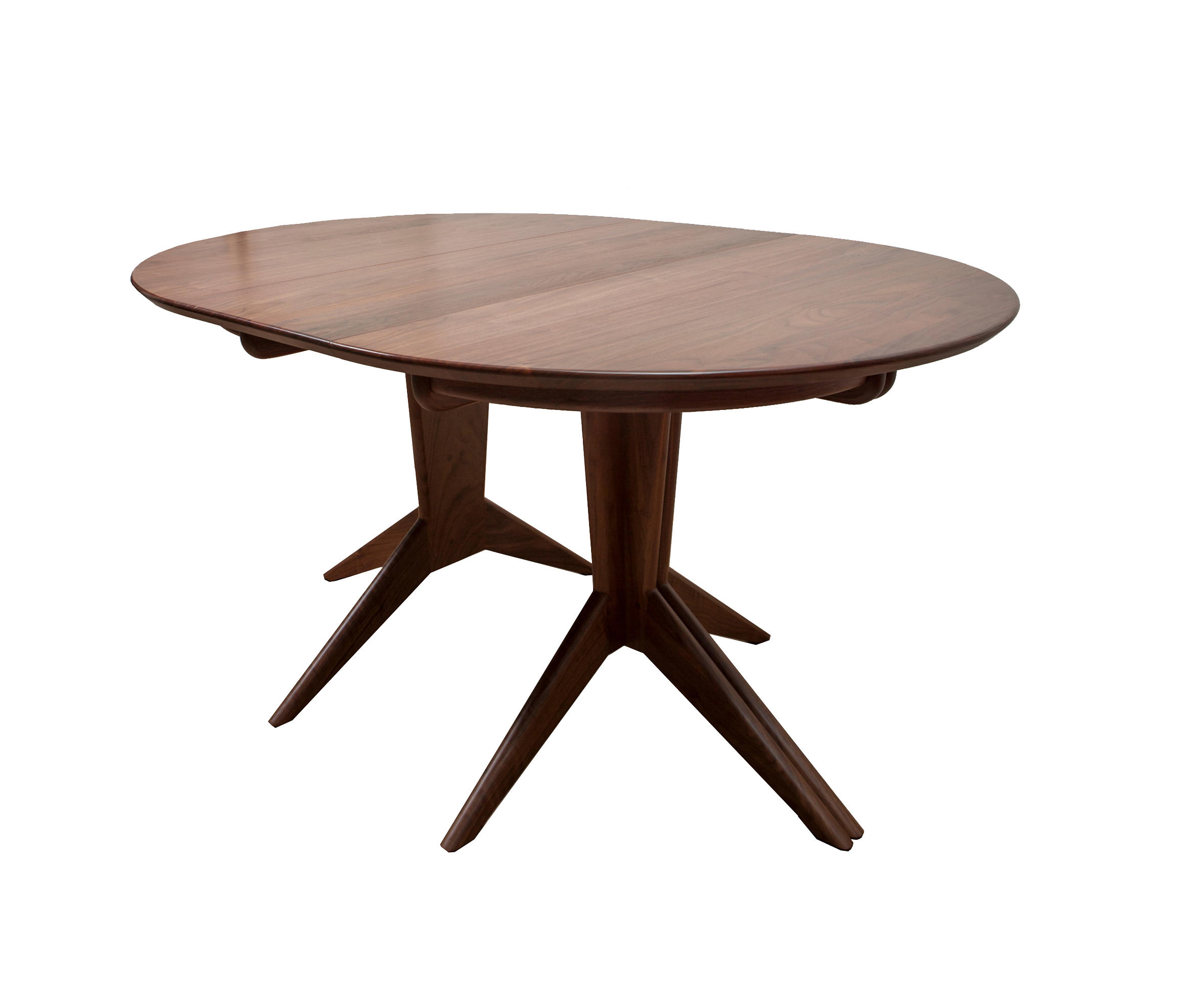 Pedestal extension dining table dining tables from for Table in table