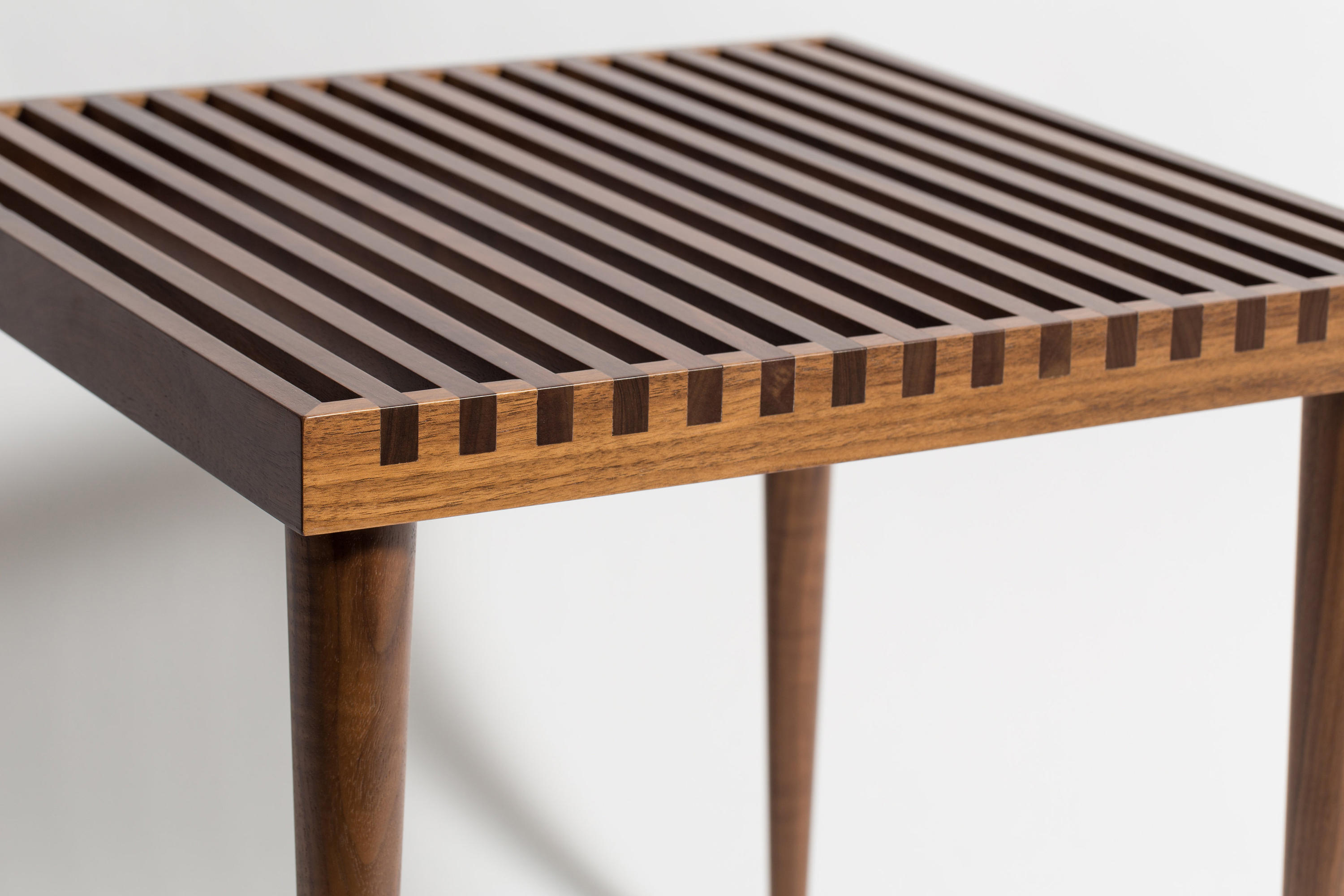 Slatted Stacking Tables By Smilow Design Side