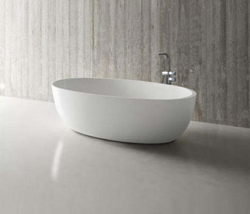 Halo blu stone freestanding oval bathtub white matte - Halo salon vancouver ...