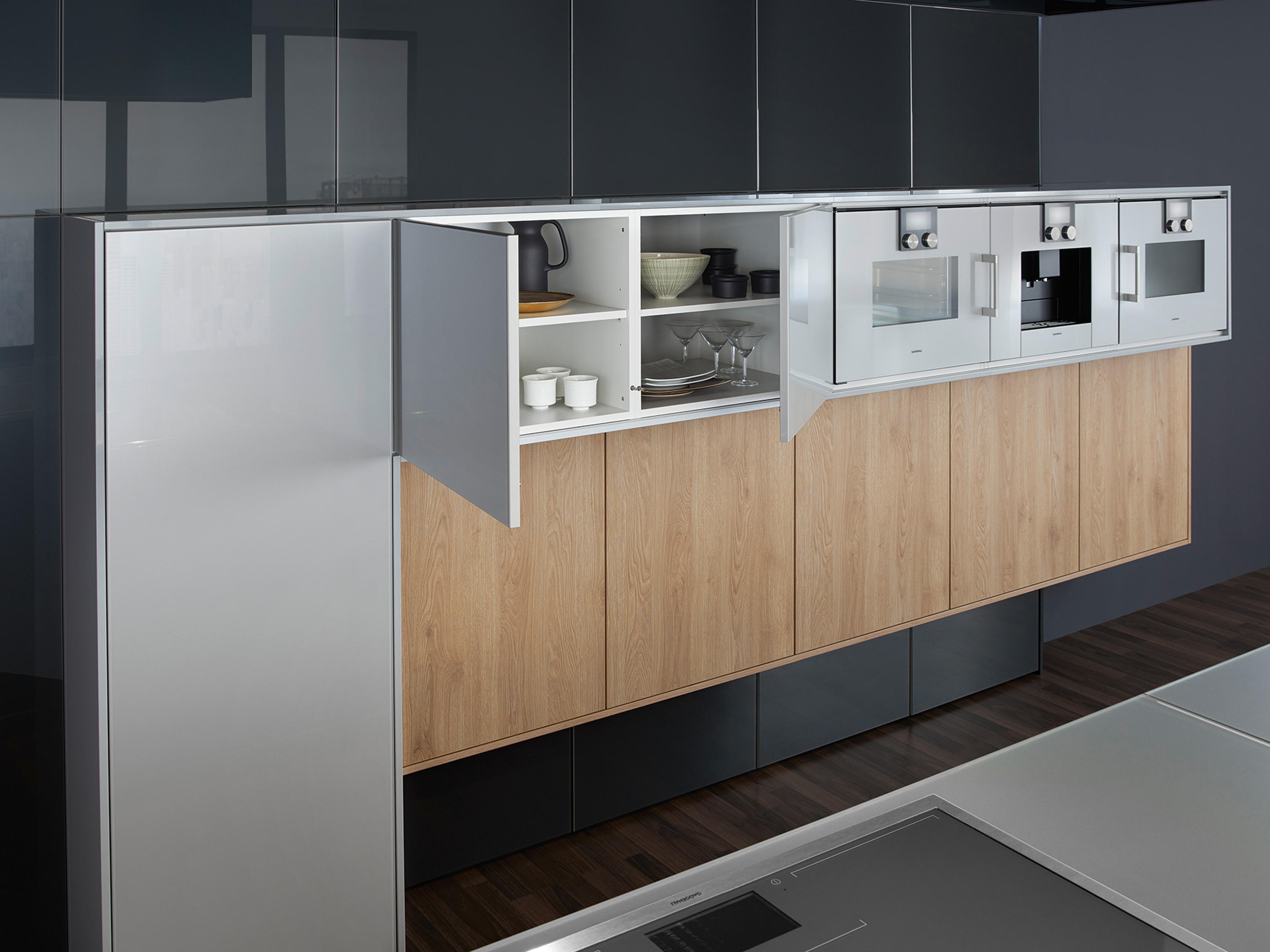 synthia ios largo lg fitted kitchens from leicht. Black Bedroom Furniture Sets. Home Design Ideas