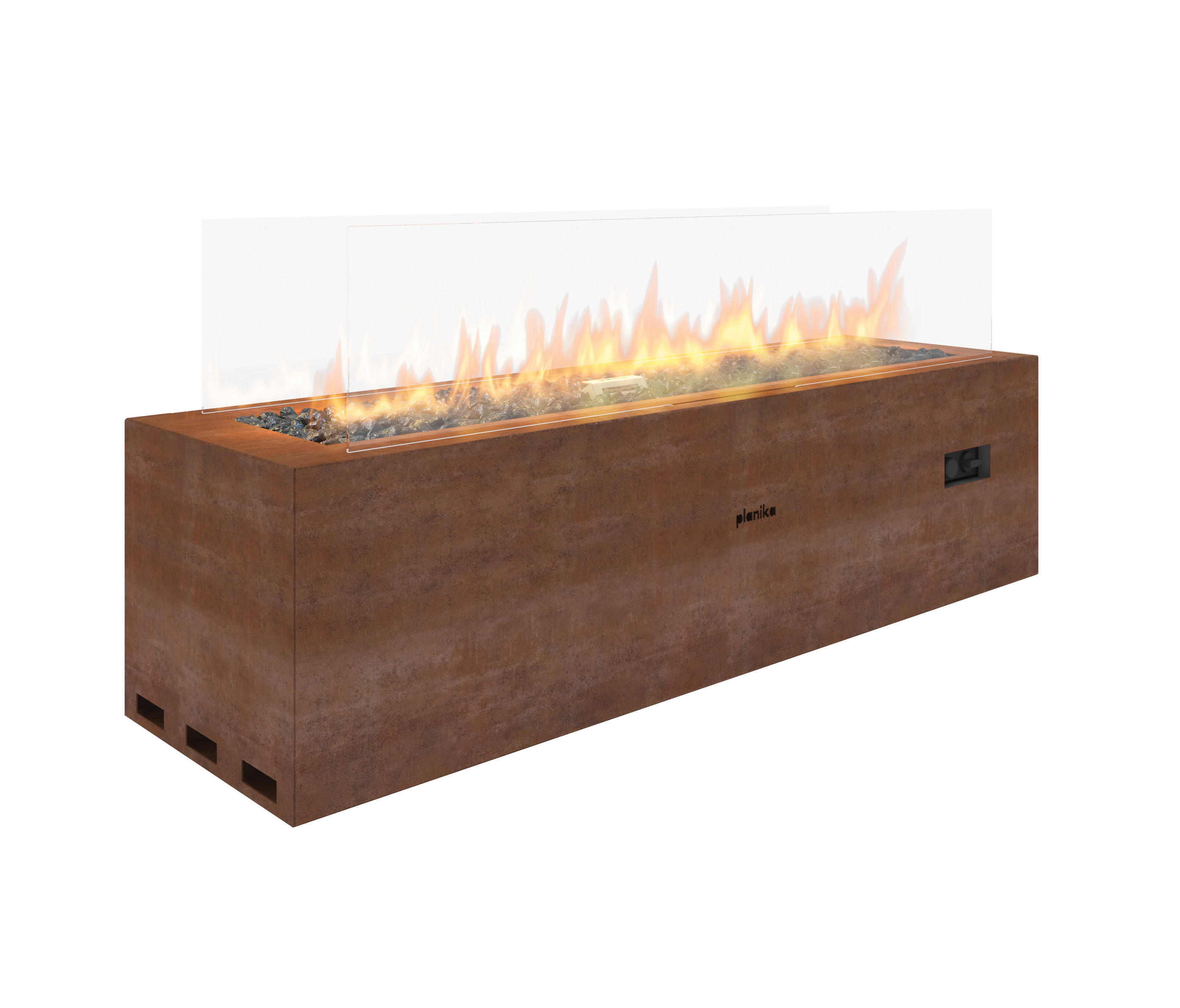 Galio Corten Ventless Fires From Planika Architonic
