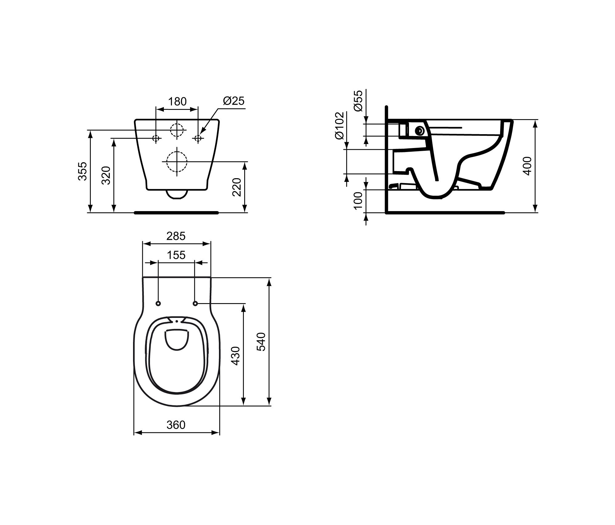 Cool CONNECT WAND-WC RANDLOS - Toilets from Ideal Standard | Architonic XE08