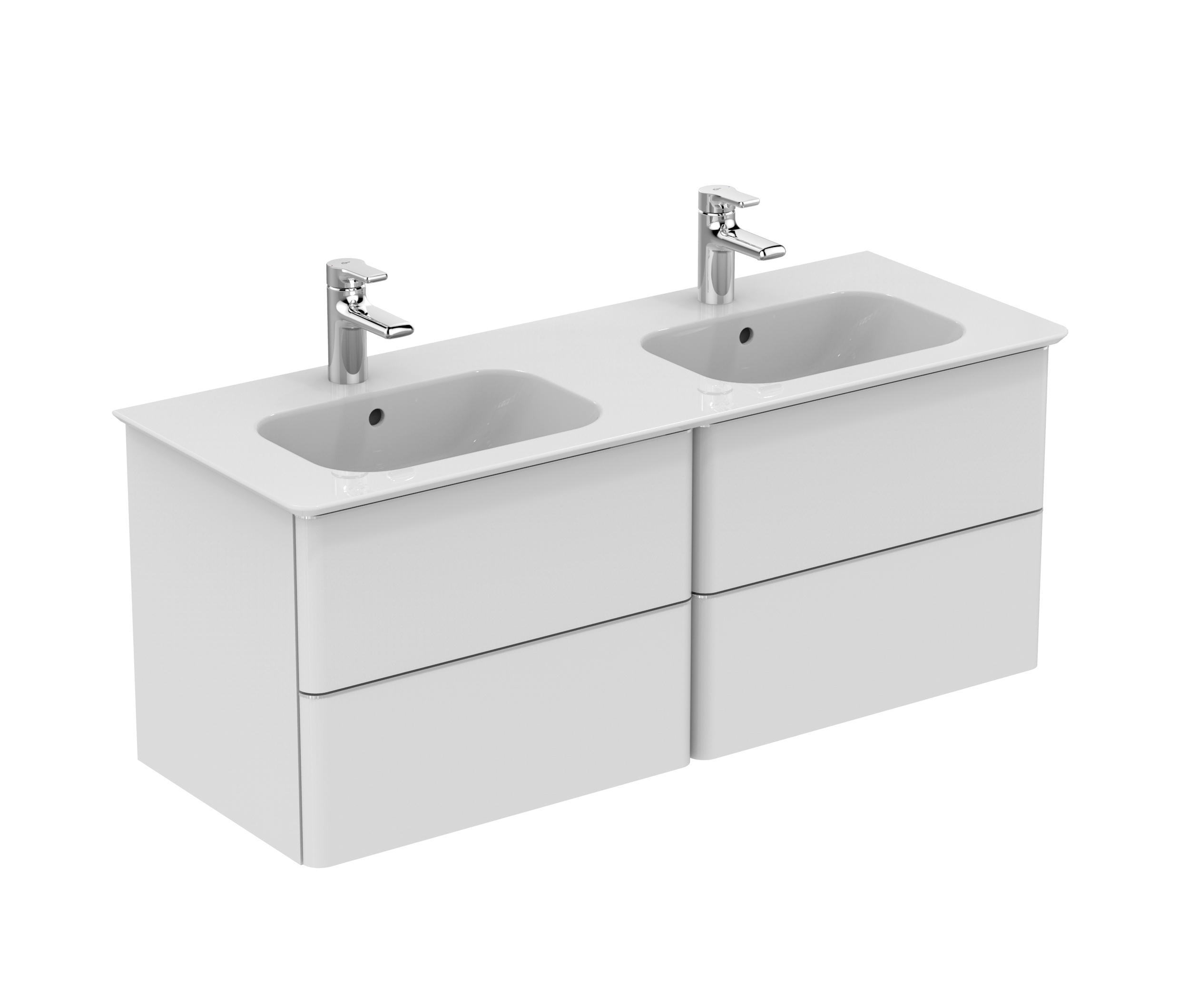 softmood m bel doppelwaschtisch 1200mm wash basins from ideal standard architonic. Black Bedroom Furniture Sets. Home Design Ideas
