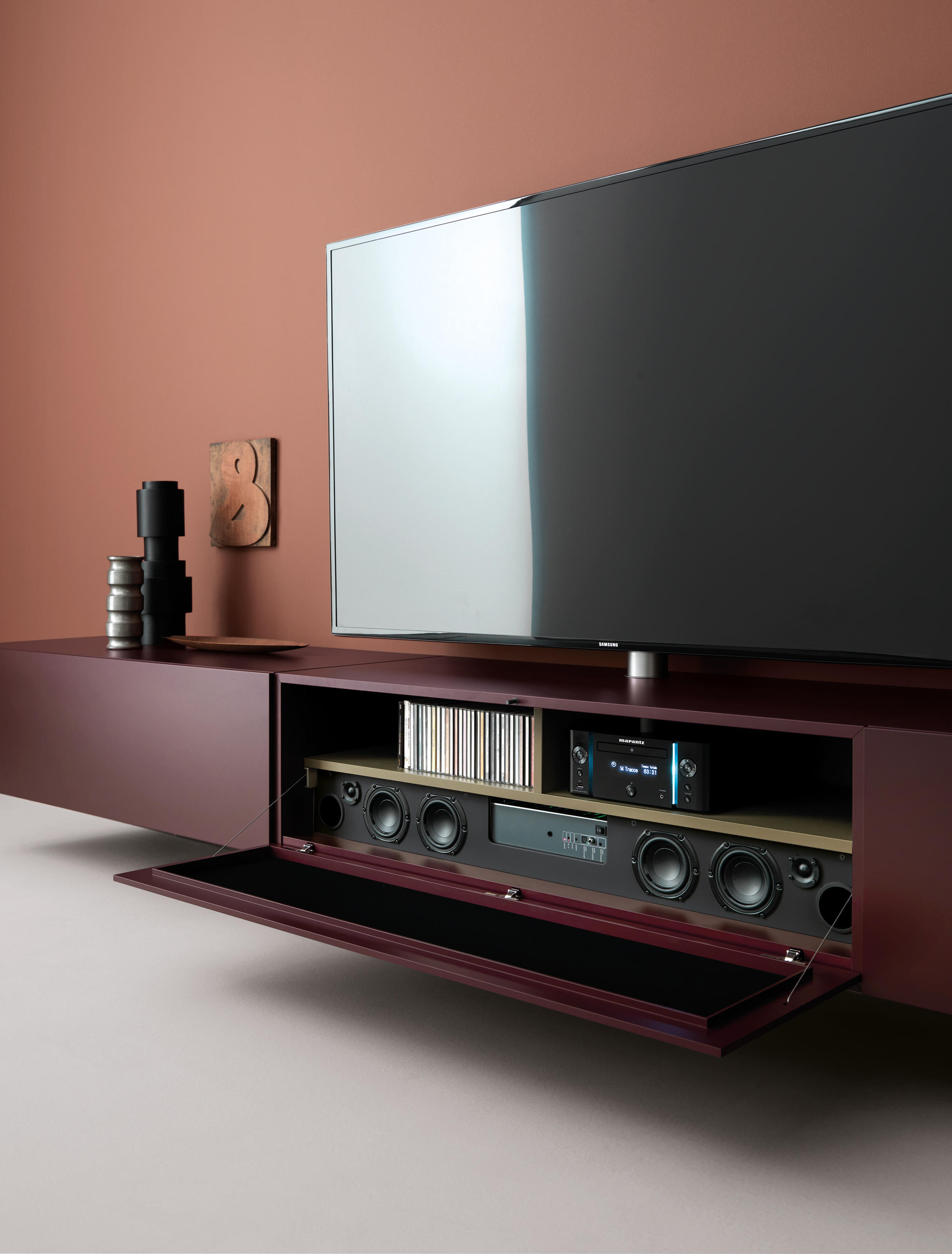 brick multimedia multimedia sideboards from caccaro. Black Bedroom Furniture Sets. Home Design Ideas