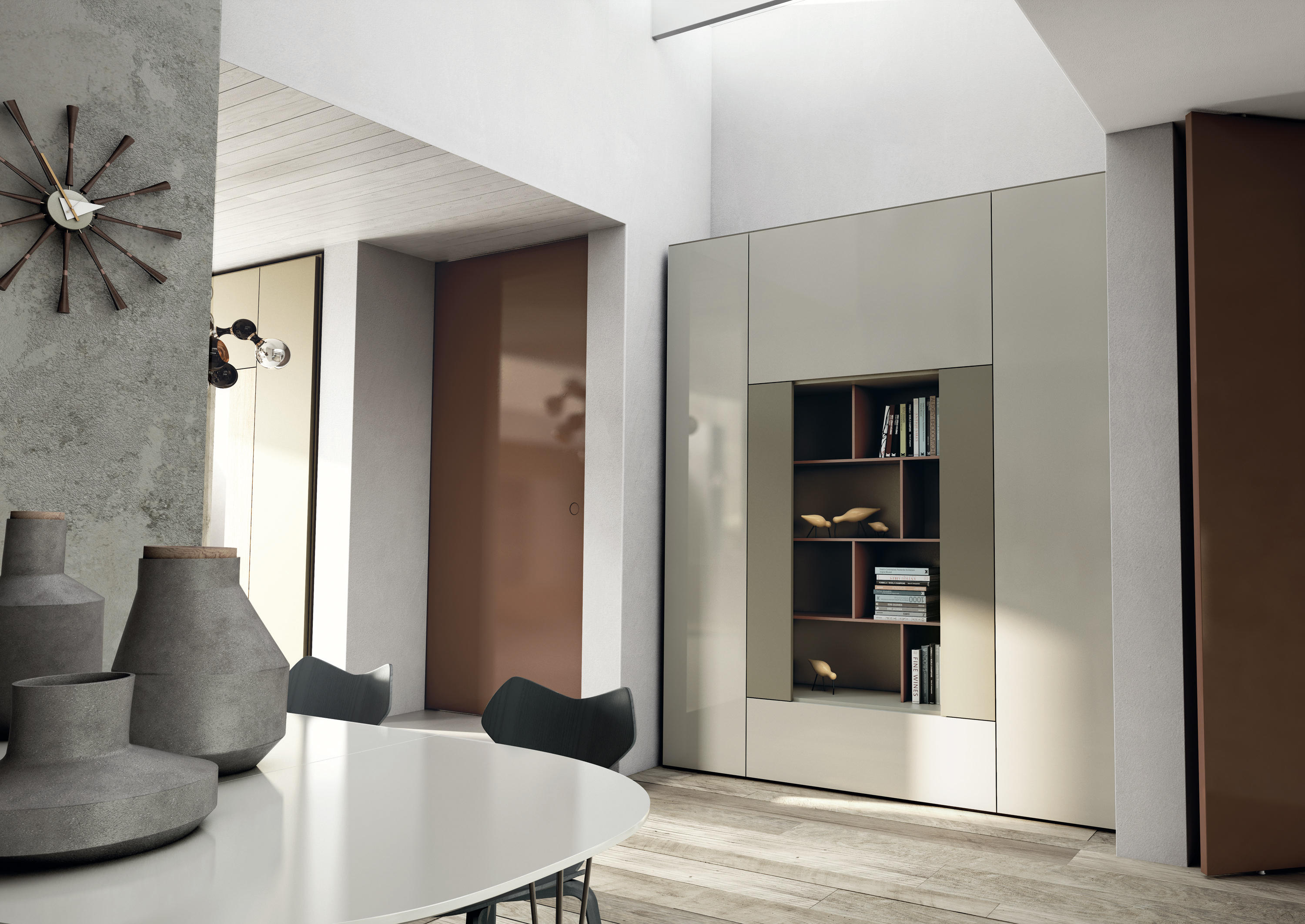 Roomy modulo libreria architonic for Produttori armadi