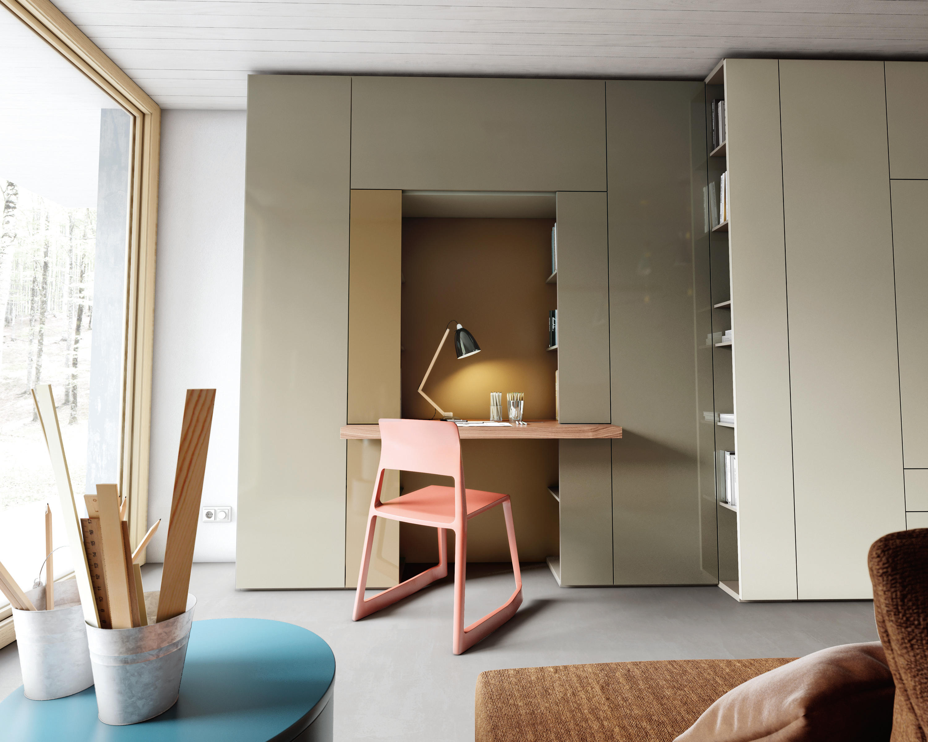 Roomy desk module cabinets from caccaro architonic for Caccaro roomy