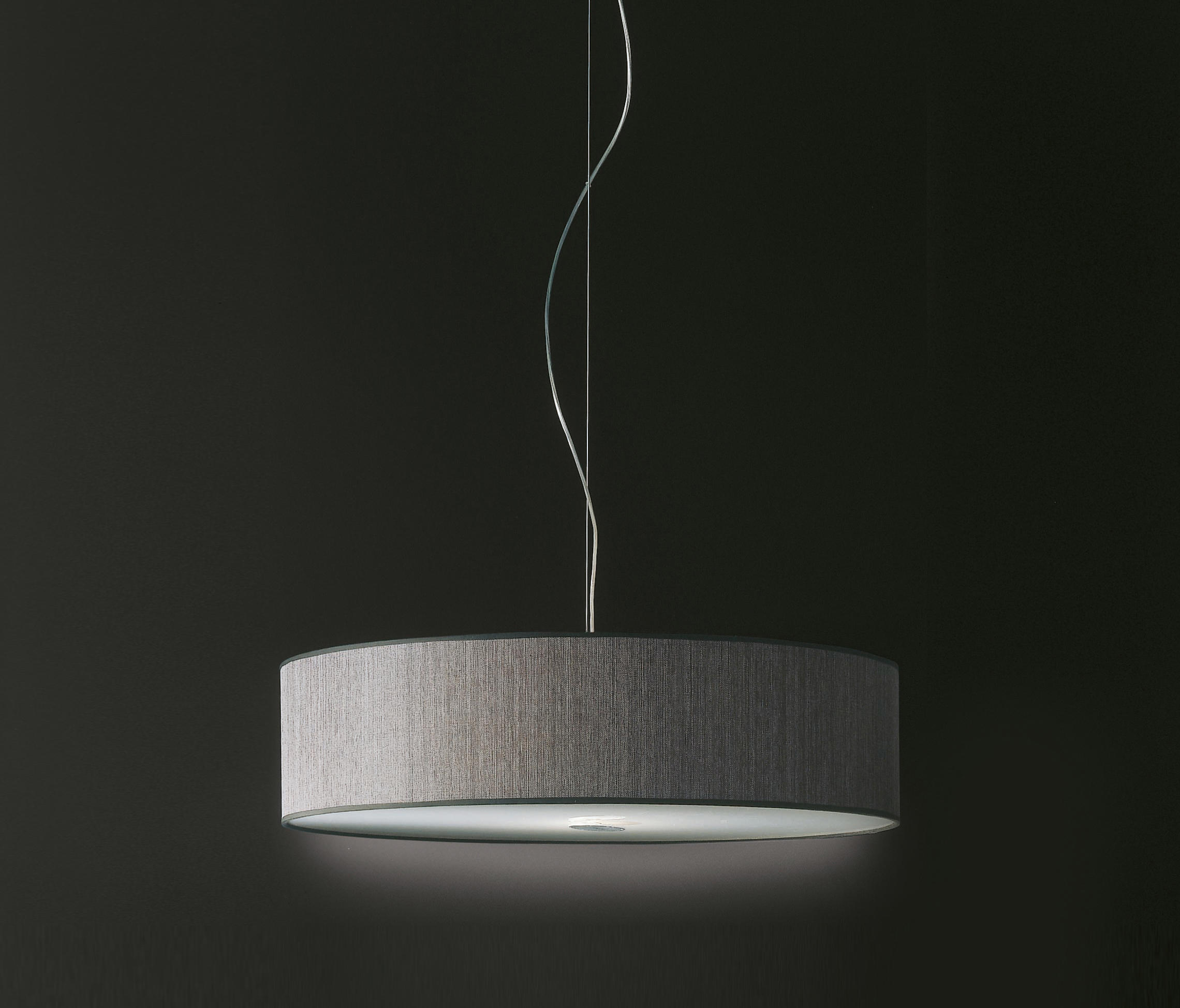 Fabric Pendants Cylinder Suspended Lights From Penta
