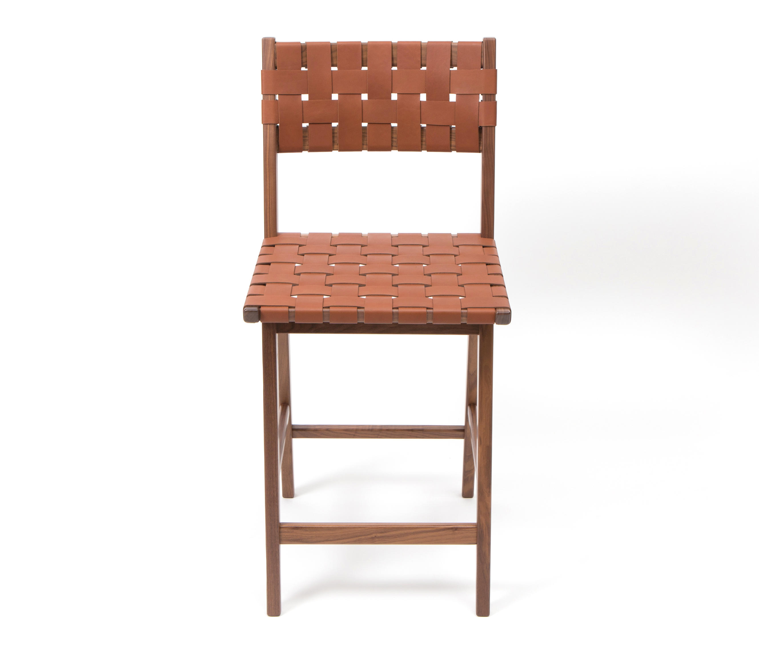 Woven Leather Backed Stool Bar Stools From Smilow Design