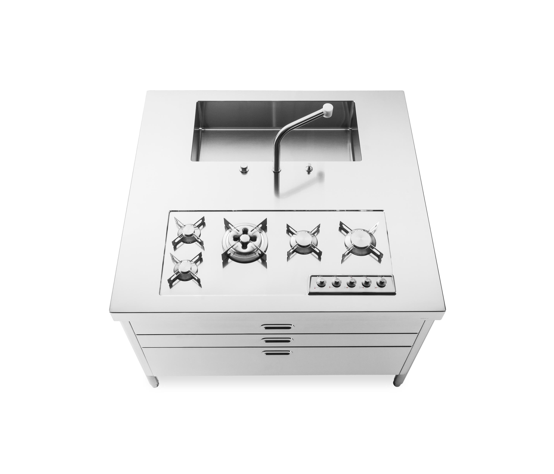 KÜCHENINSELN 130 - Kompaktküchen von ALPES-INOX | Architonic