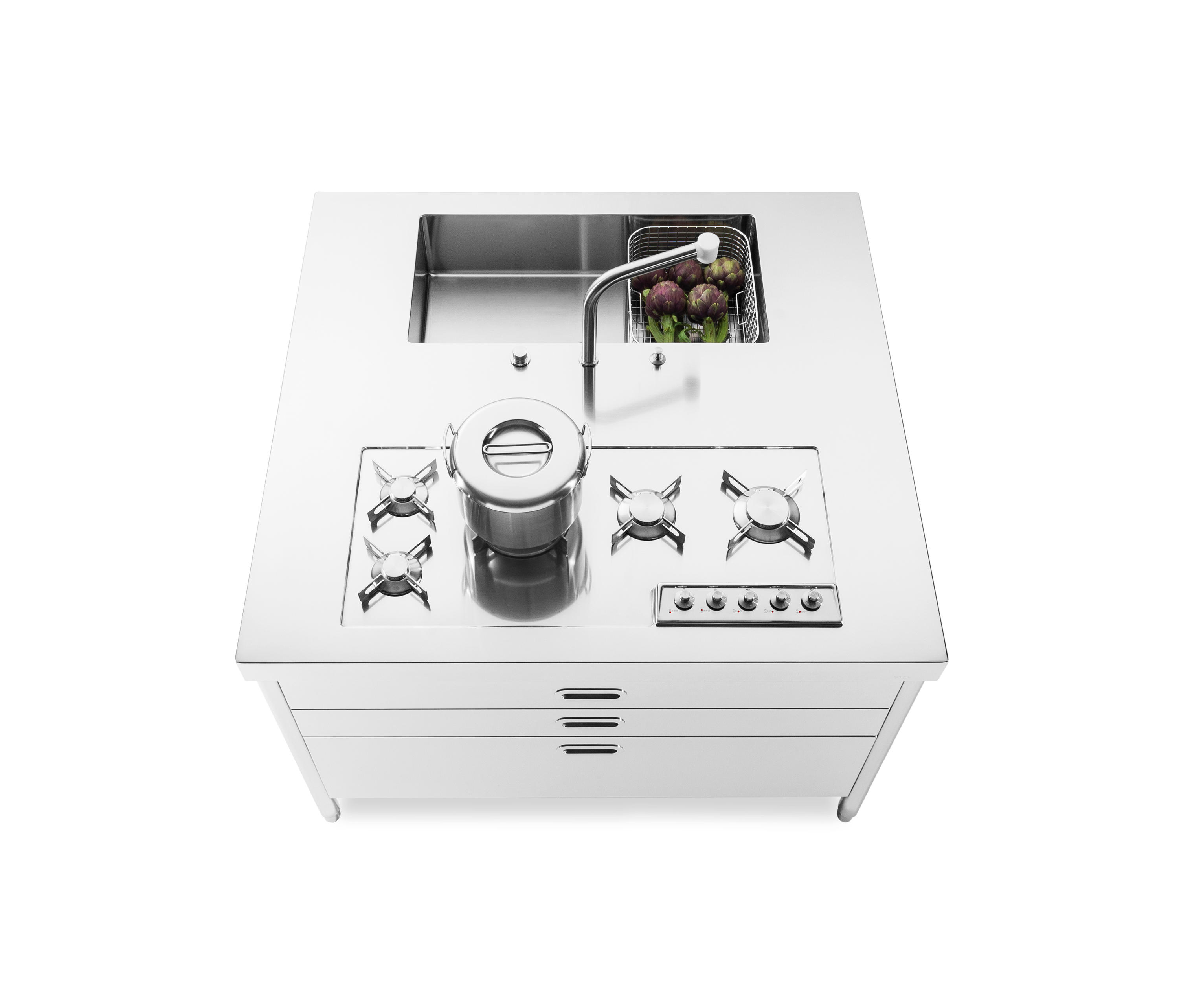 KITCHENS ISLANDS 130 - Compact kitchens from ALPES-INOX | Architonic