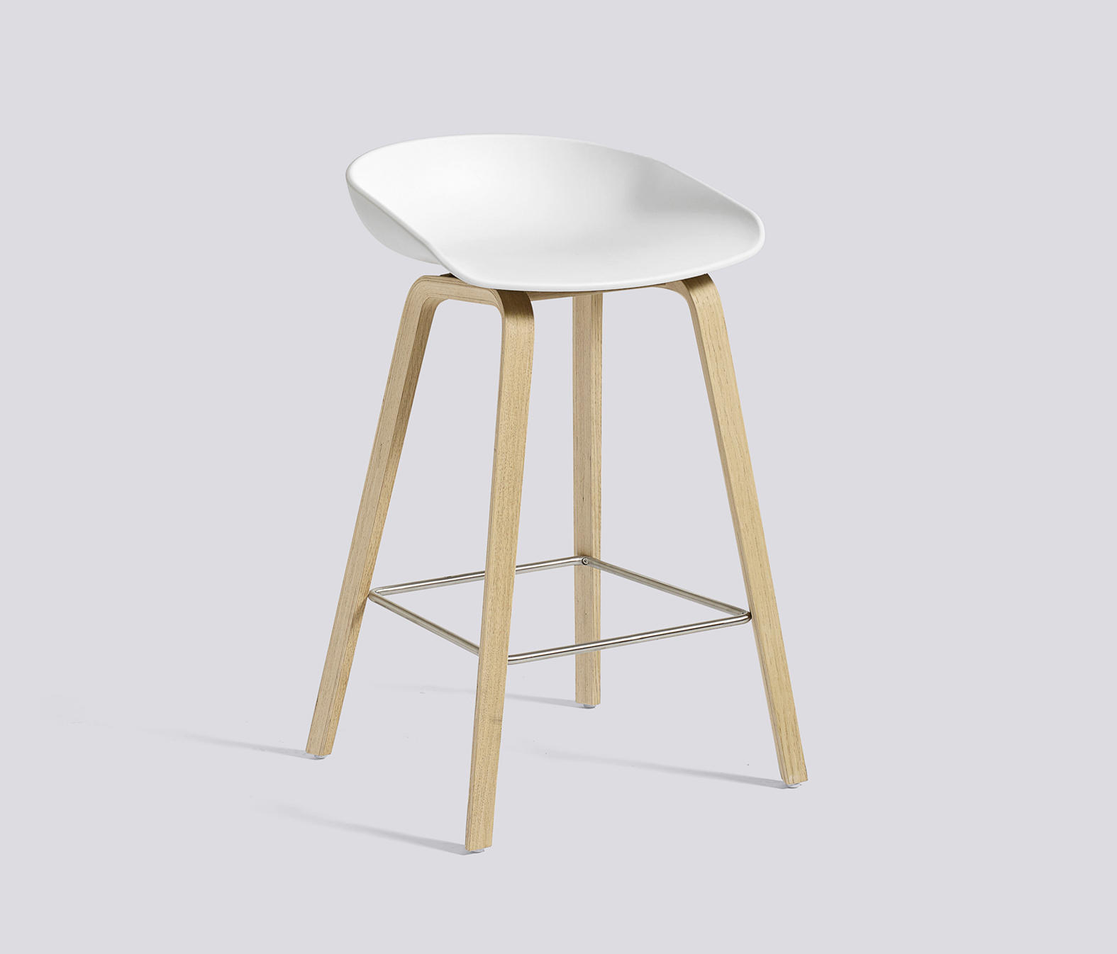 ABOUT A STOOL AAS32 Bar stools from Hay Architonic : aas32 h65 oak soaped stainless steel footrest white b from www.architonic.com size 1575 x 1346 jpeg 162kB