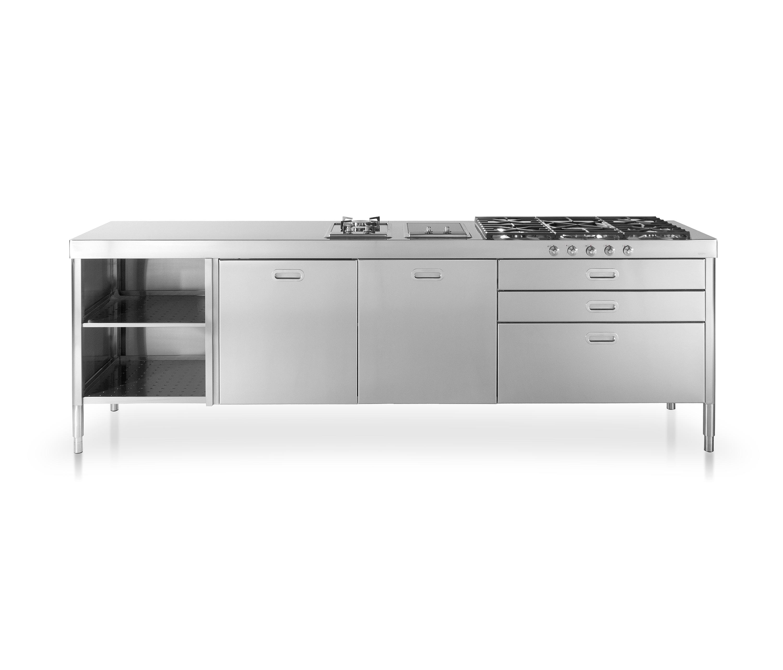 Cucine 250 cucine modulari alpes inox architonic for Cucine modulari
