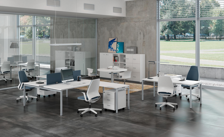 Idea 01 syst mes de tables de bureau de the for Mobilier bureau quadrifoglio