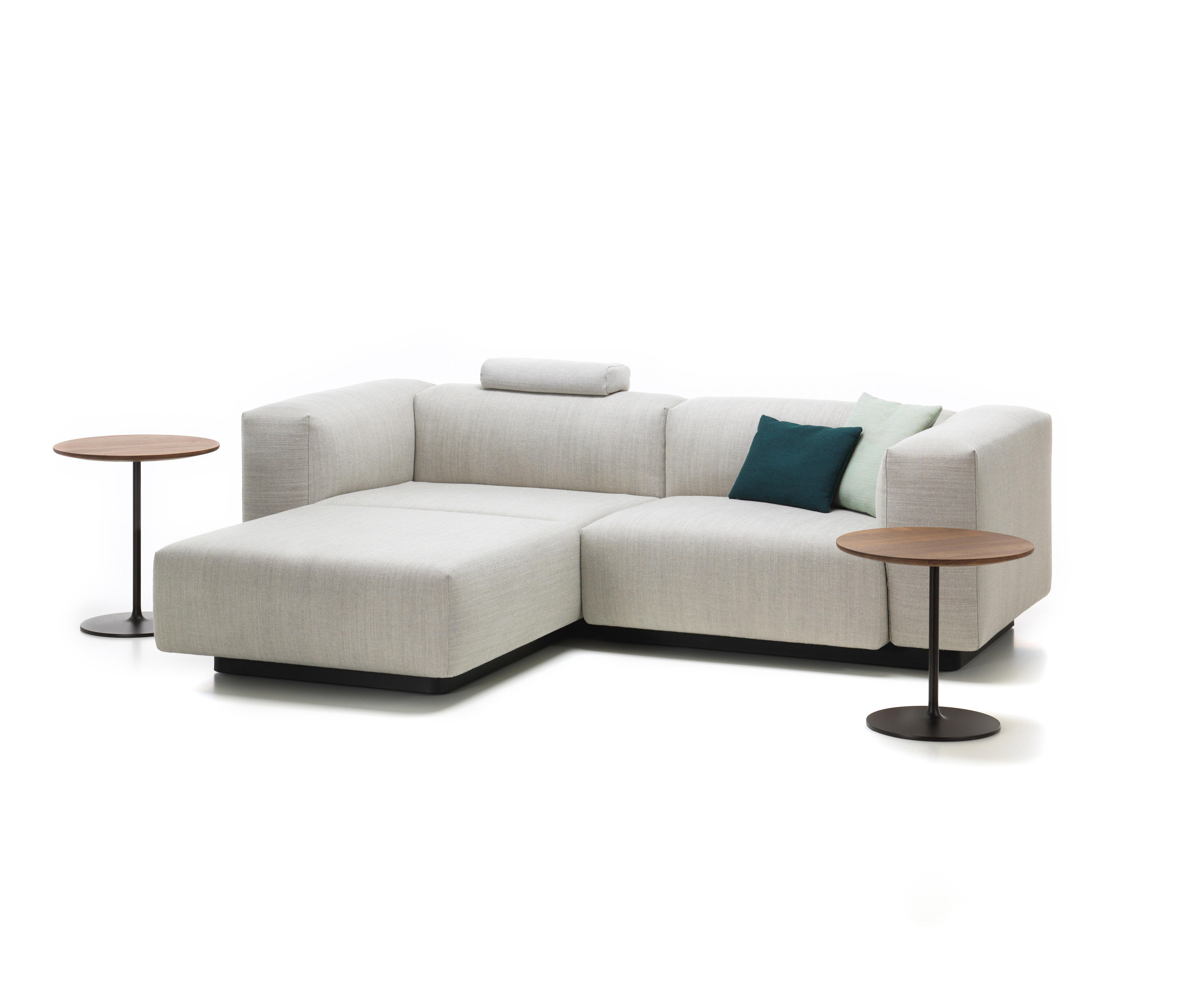 soft modular sofa 2 seater chaise longue sofas from vitra architonic. Black Bedroom Furniture Sets. Home Design Ideas