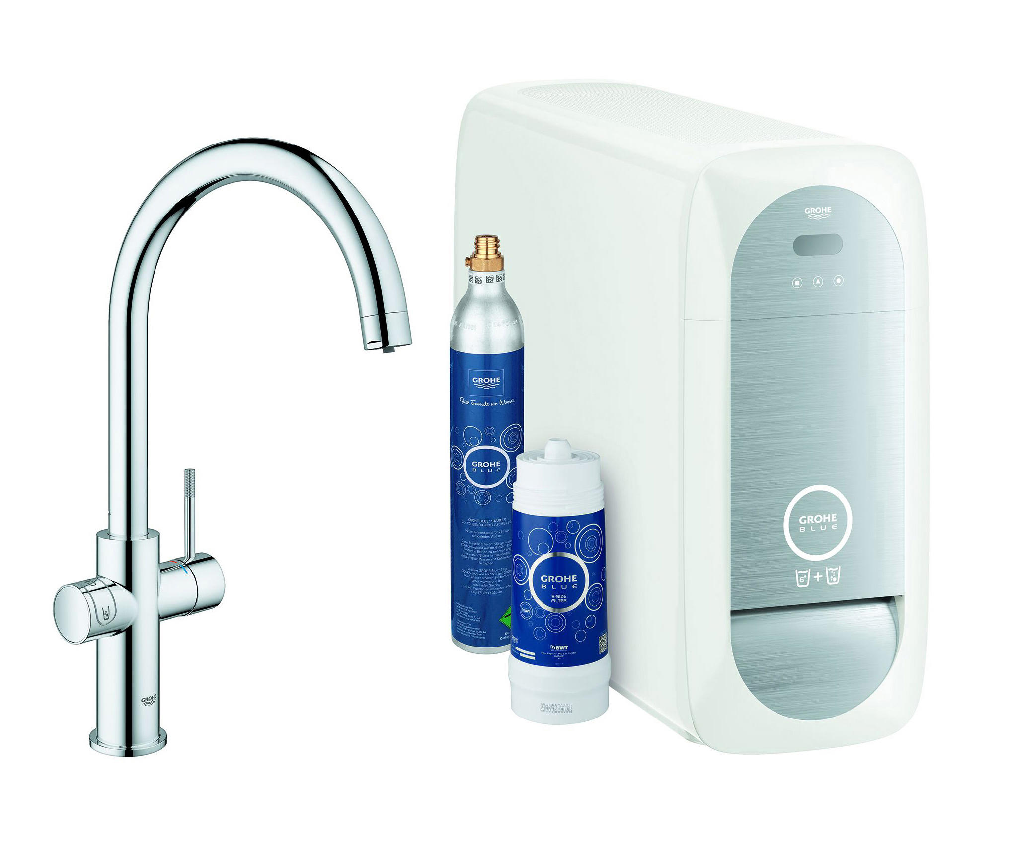 grohe blue home c spout starter kit kitchen taps from. Black Bedroom Furniture Sets. Home Design Ideas
