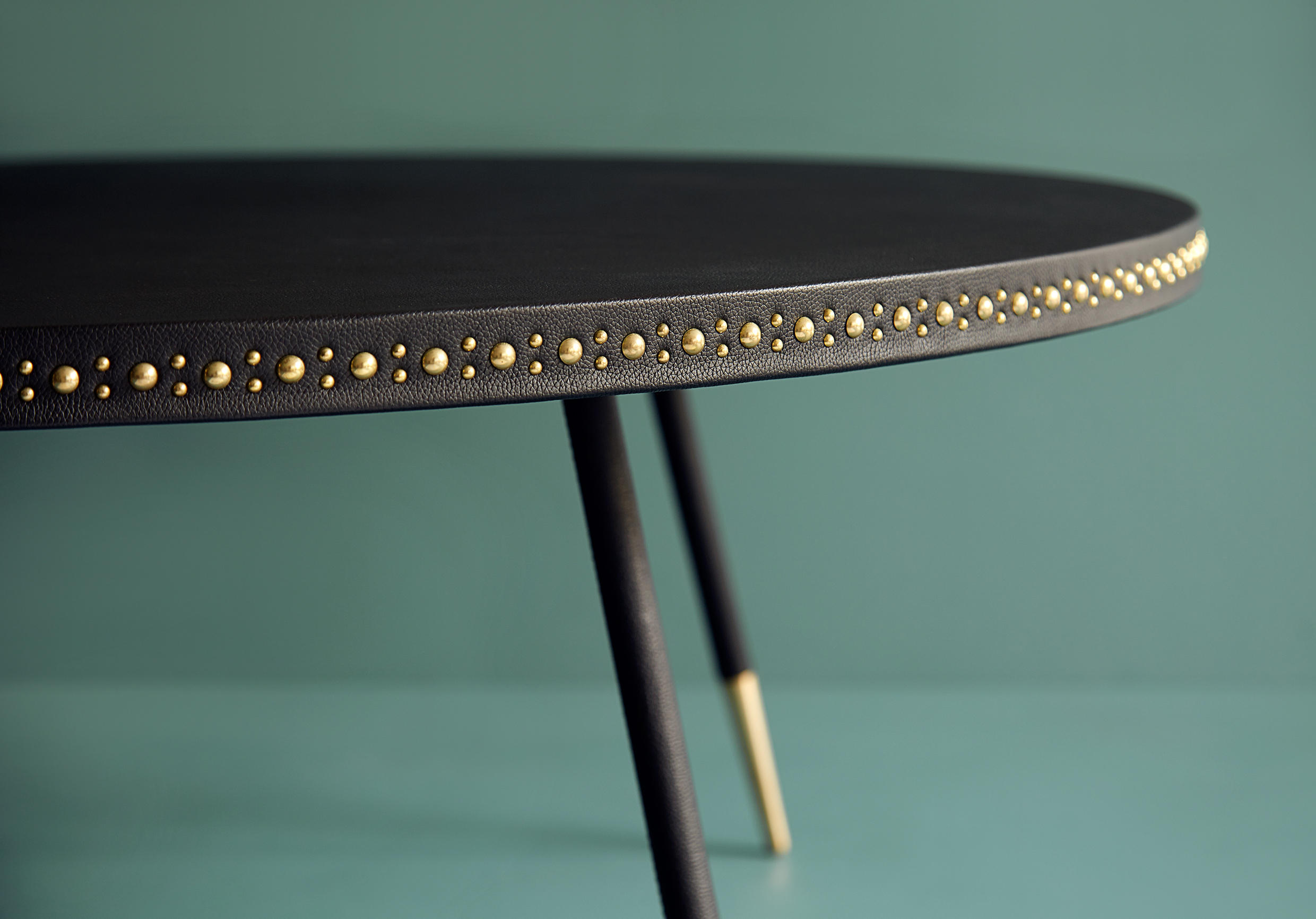 STUD LEATHER COFFEE TABLE Lounge tables from Bethan Gray