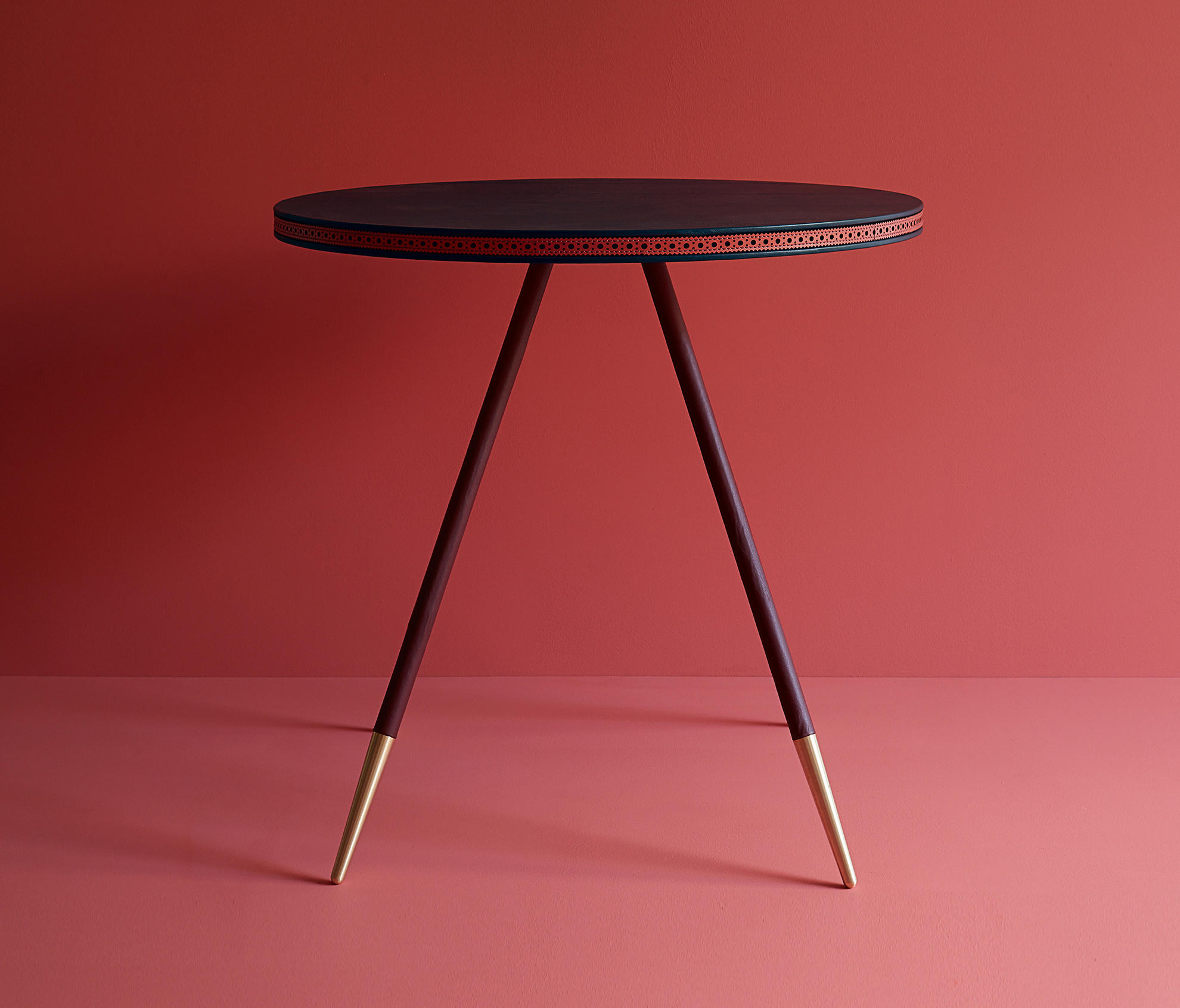 Brogue Leather Dining Table Dining Tables From Bethan