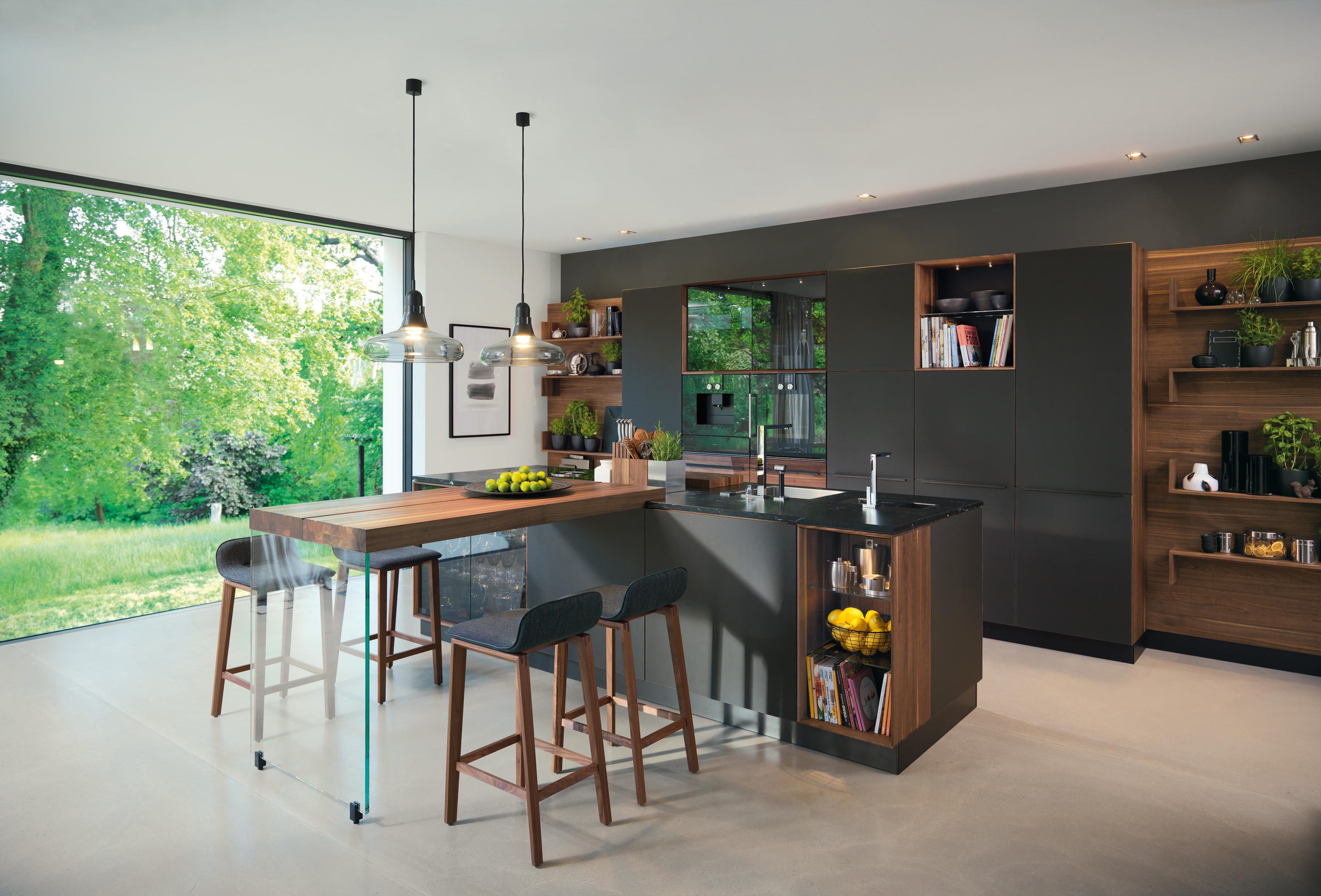 BLACK LINE CUCINA - Cucine parete TEAM 7 | Architonic