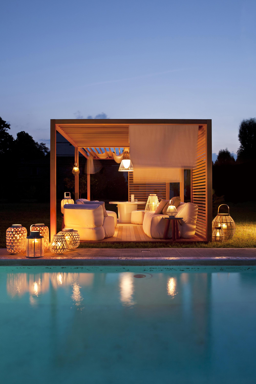 Zen light double gazebos from exteta architonic for Zen pool design