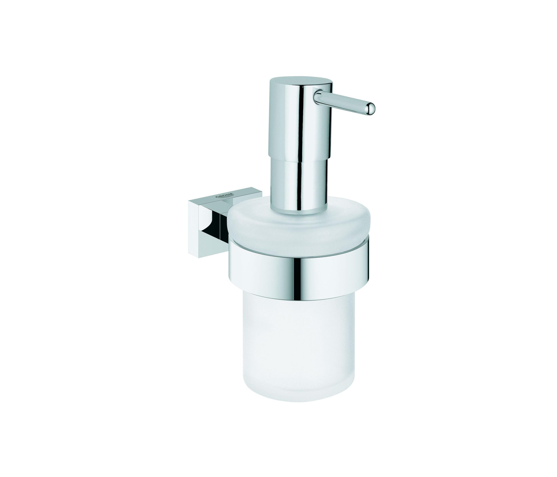 Essential Electric Soap Dispenser ~ Essentials cube soap dispenser with holder
