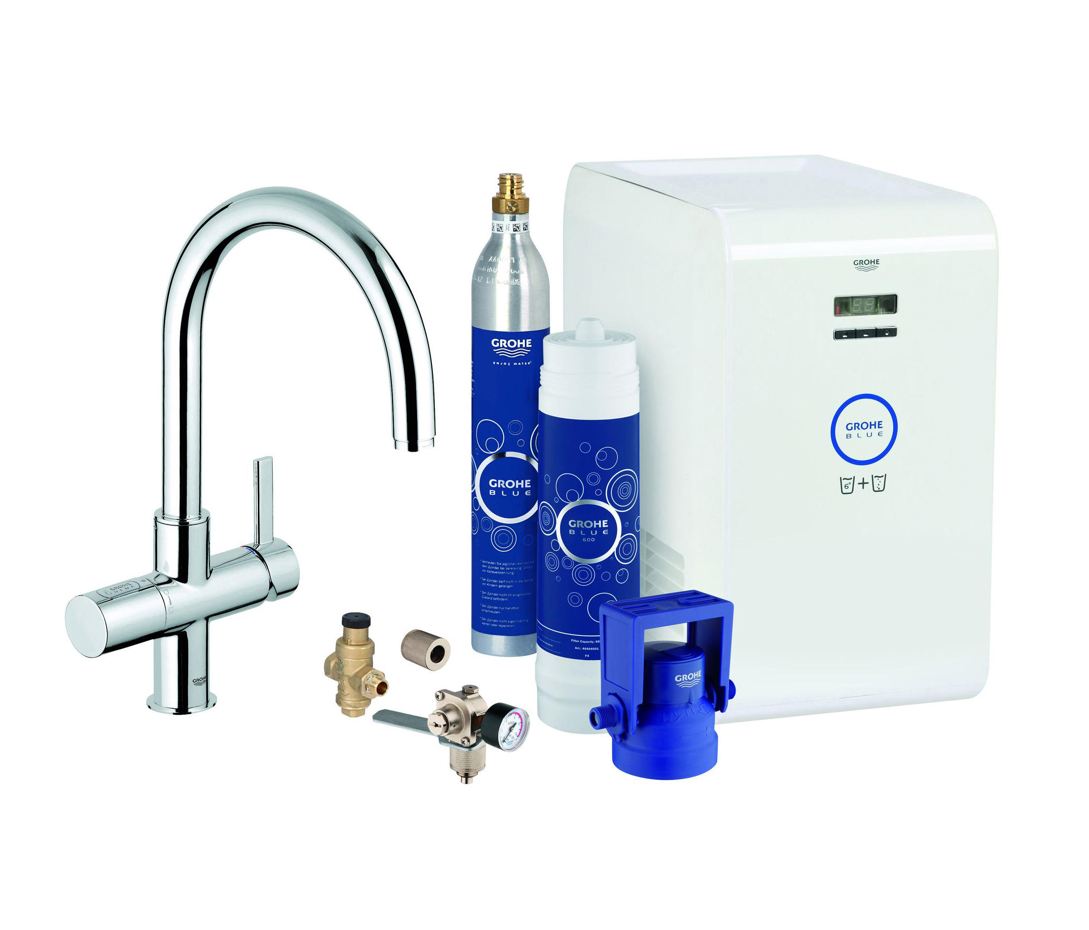 grohe blue starter kit k chenarmaturen von grohe architonic. Black Bedroom Furniture Sets. Home Design Ideas
