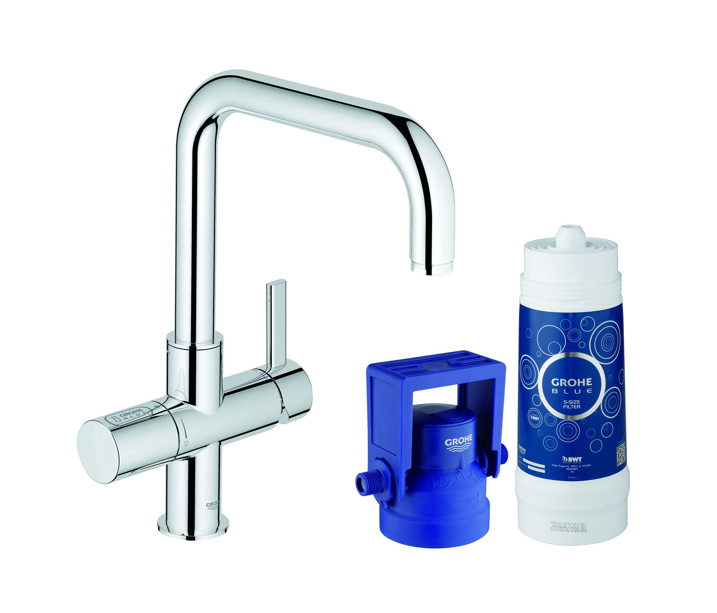 grohe blue pure starter kit kitchen taps from grohe. Black Bedroom Furniture Sets. Home Design Ideas