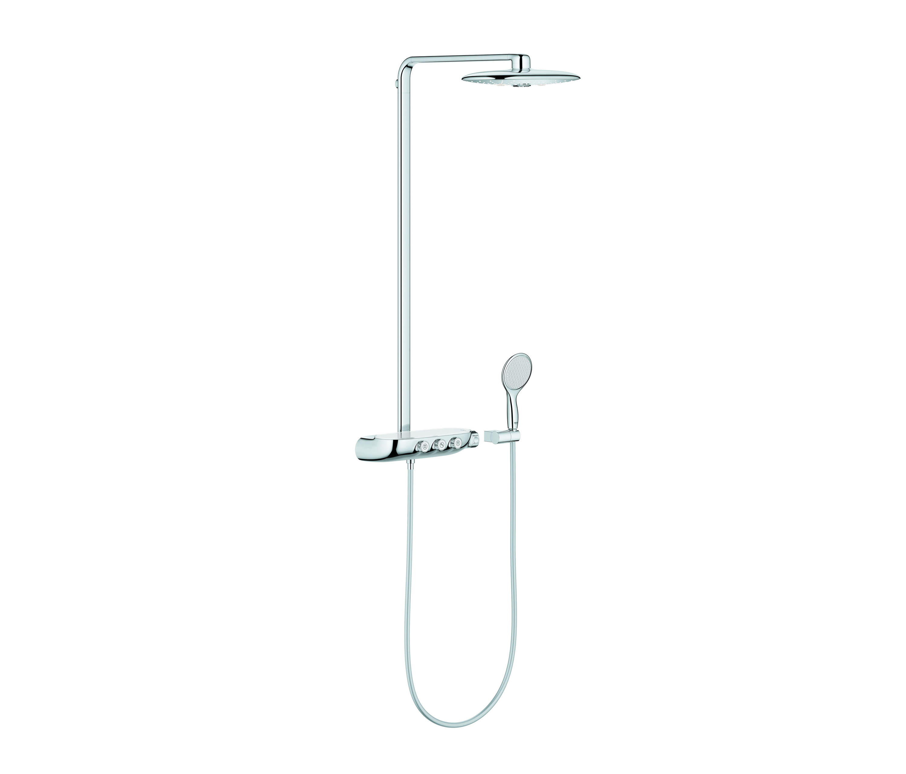 rainshower system smartcontrol 360 duo shower system with thermostat shower controls from grohe. Black Bedroom Furniture Sets. Home Design Ideas