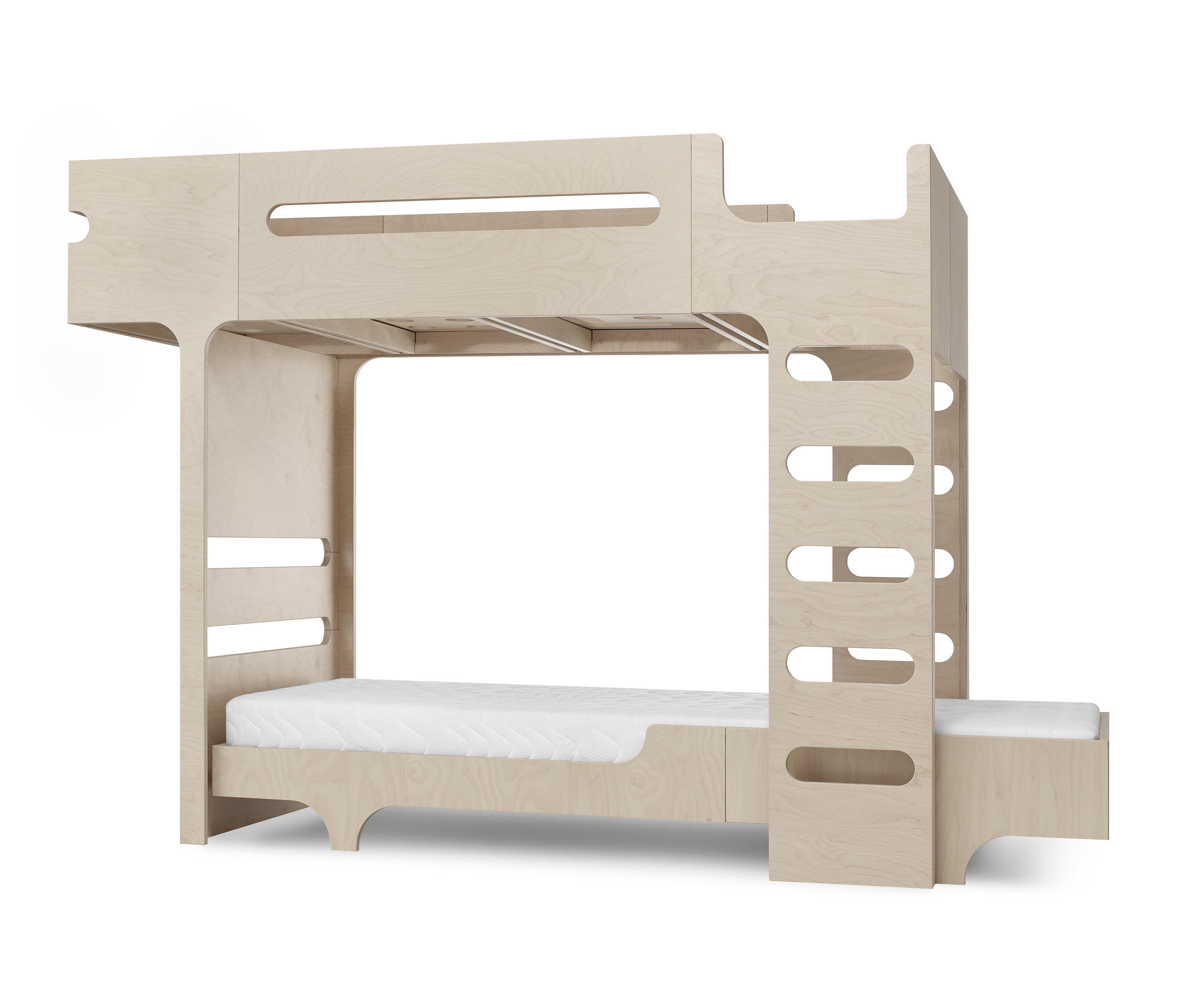 F&A bed - set for 2 kids - natural by RAFA kids | Kids beds