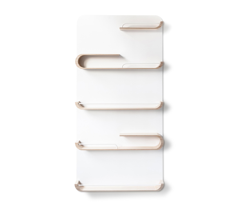 Xl shelf natural white metal wall shelves from rafa kids architonic - Wall metal shelf ...